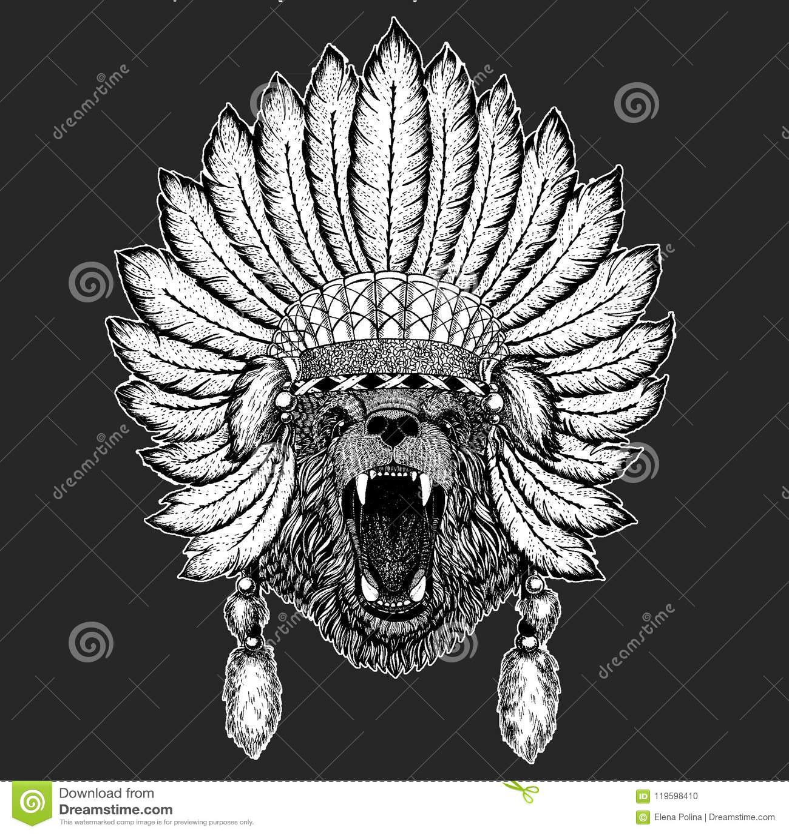 eb4862b7b6f0b Bear Hand drawn picture for tattoo, t-shirt, emblem, badge, logo patch