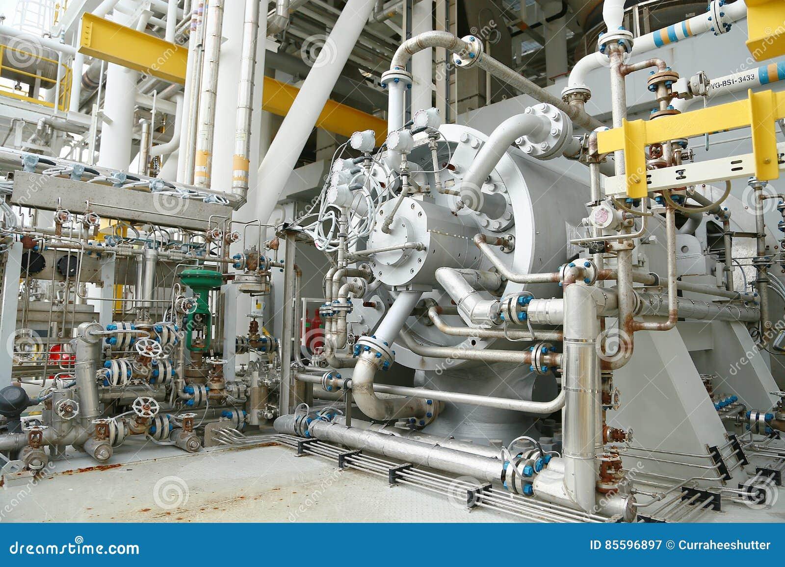 Bearbeiten Sie Turbine in der Öl- und Gasanlage für Antriebsdruckluftanlage für Operation maschinell Turbine, die mit langer Zeit