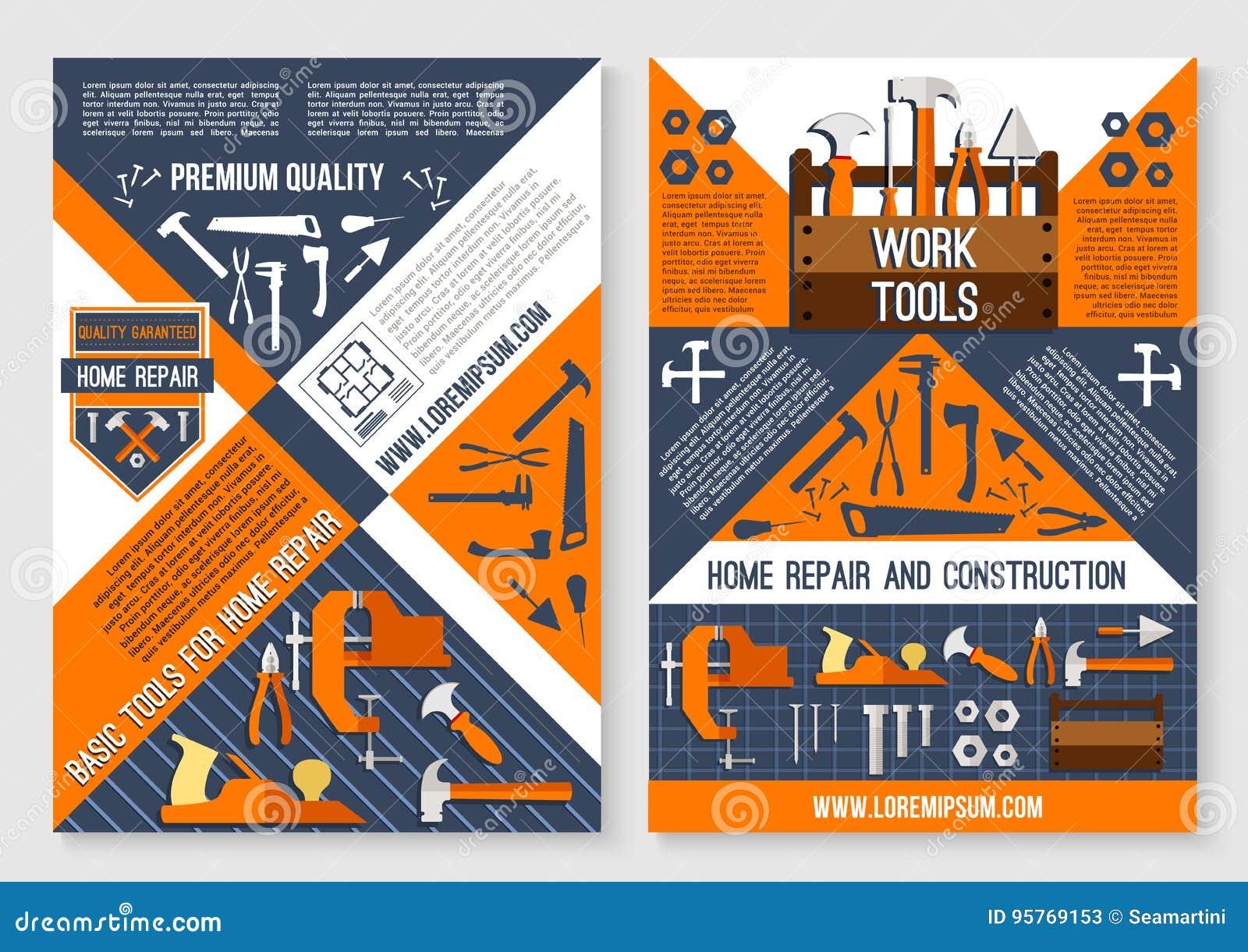 Bearbeiten Sie Werkzeug für Hauptreparatur- und Bauplakat