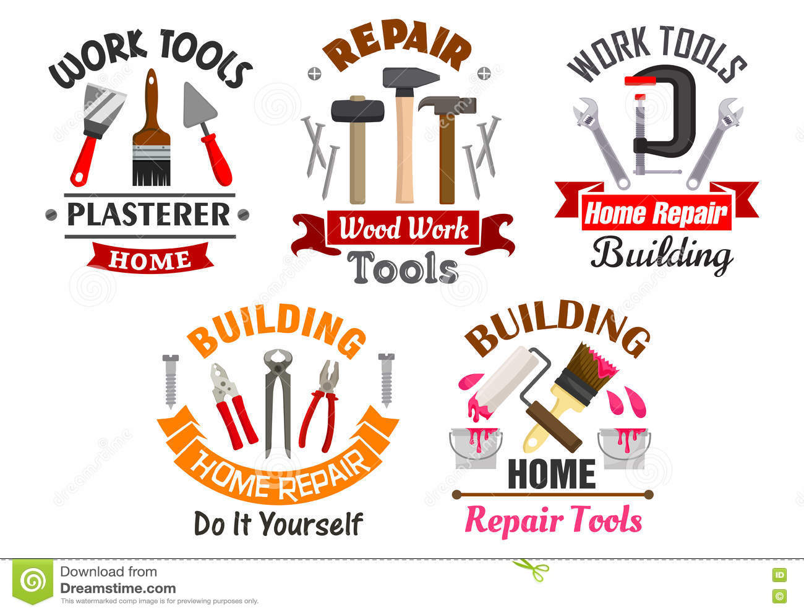 Bearbeiten Sie Werkzeuge für die eingestellten Reparatur- und Gebäudeausweise