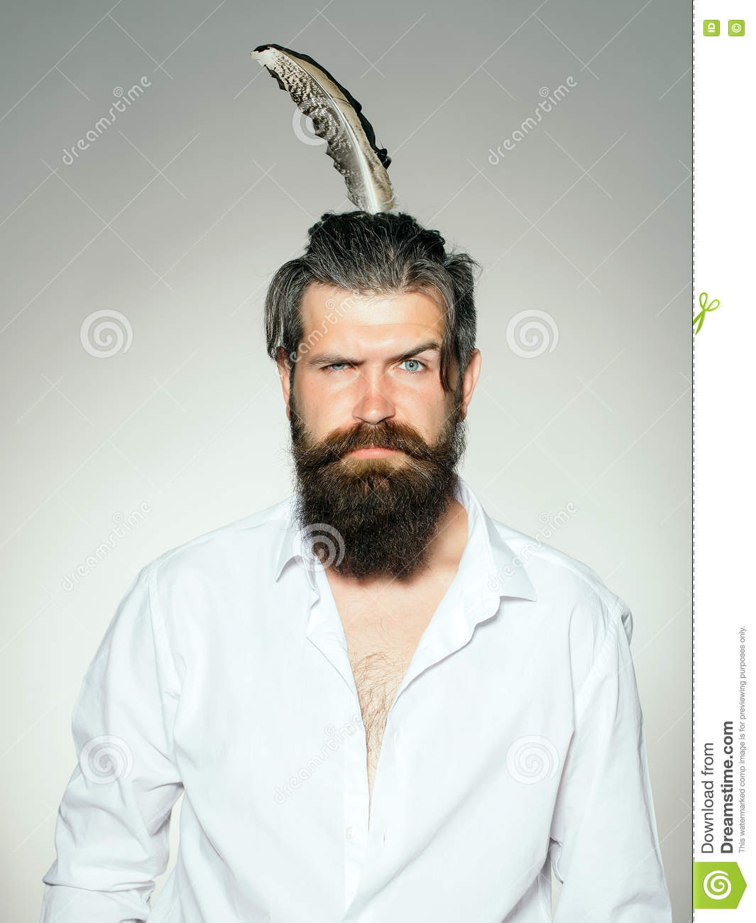 Beards big stylish rare photo