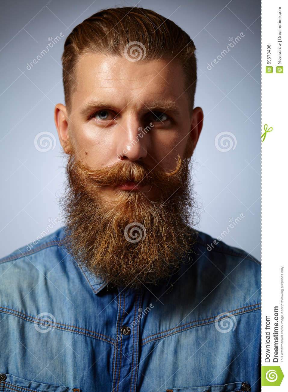 Bearded Man Handsome Man With A Beard And Twirled