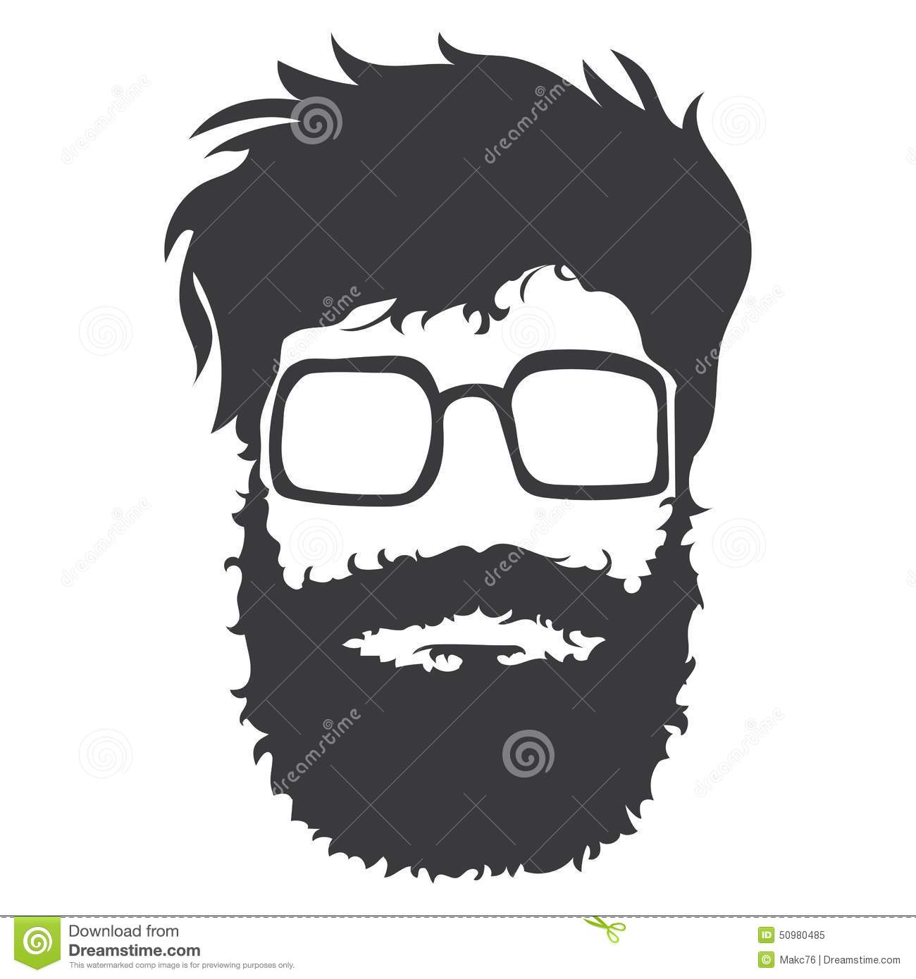 Bearded Man Illustration Stock Vector Image 50980485