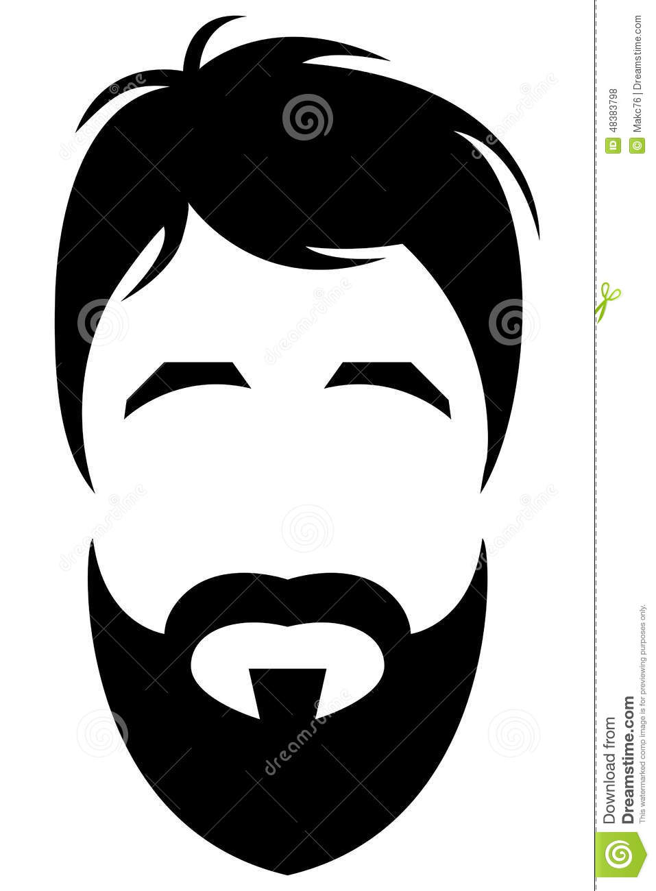 the gallery for gt bearded man silhouette