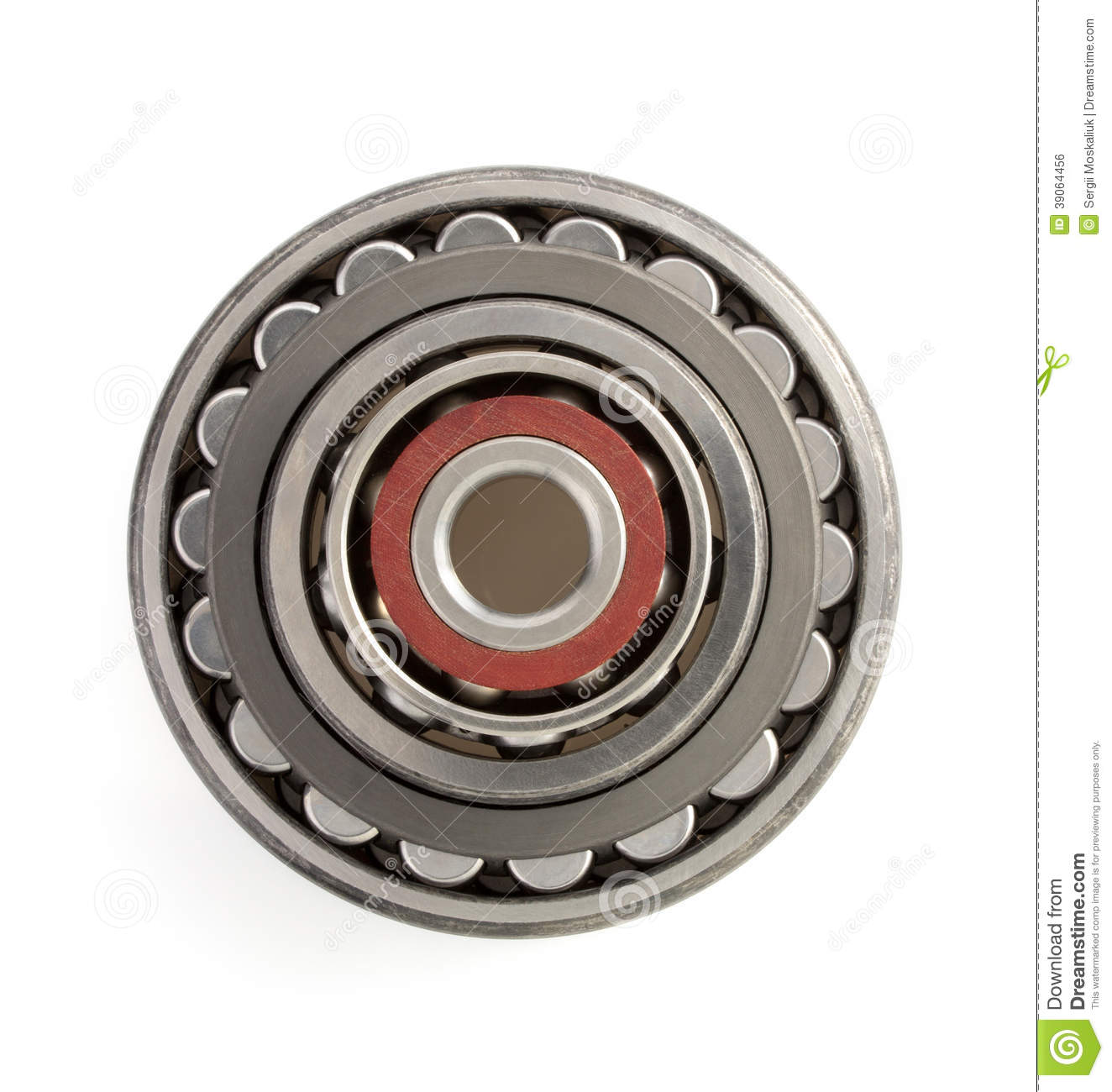 Bearings on white background