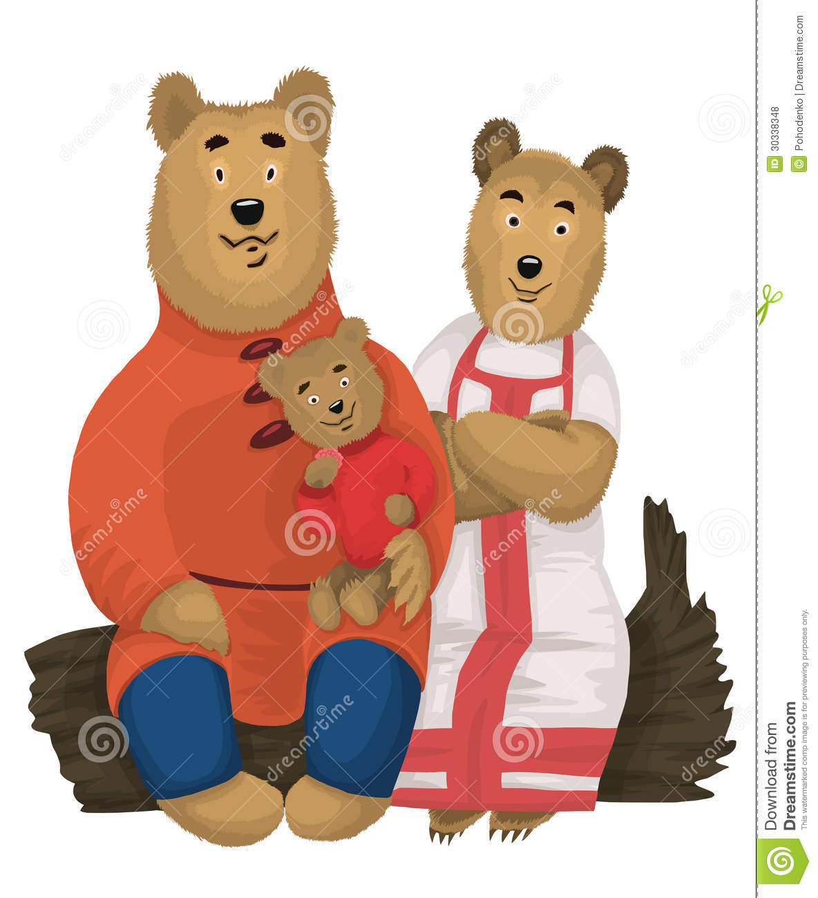 Bears Family Character Cartoon Style Illustration Stock ...