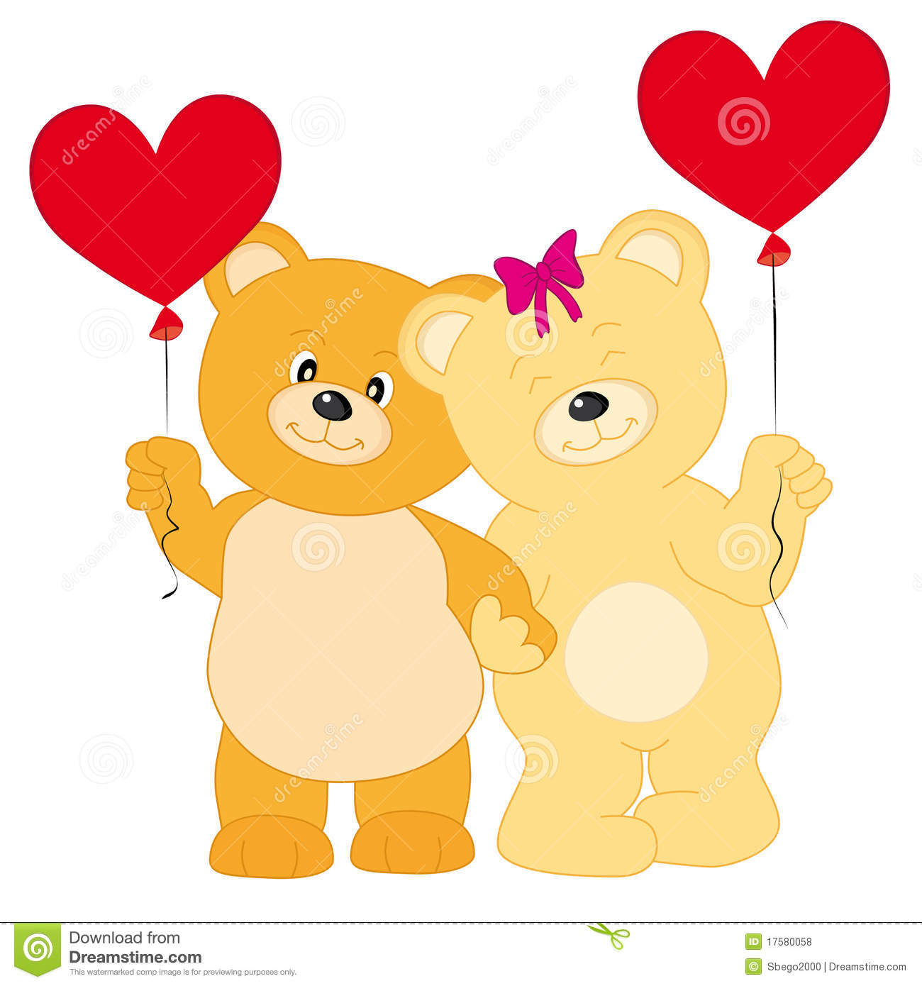 bears in love stock vector image of valentine illustration 17580058. Black Bedroom Furniture Sets. Home Design Ideas