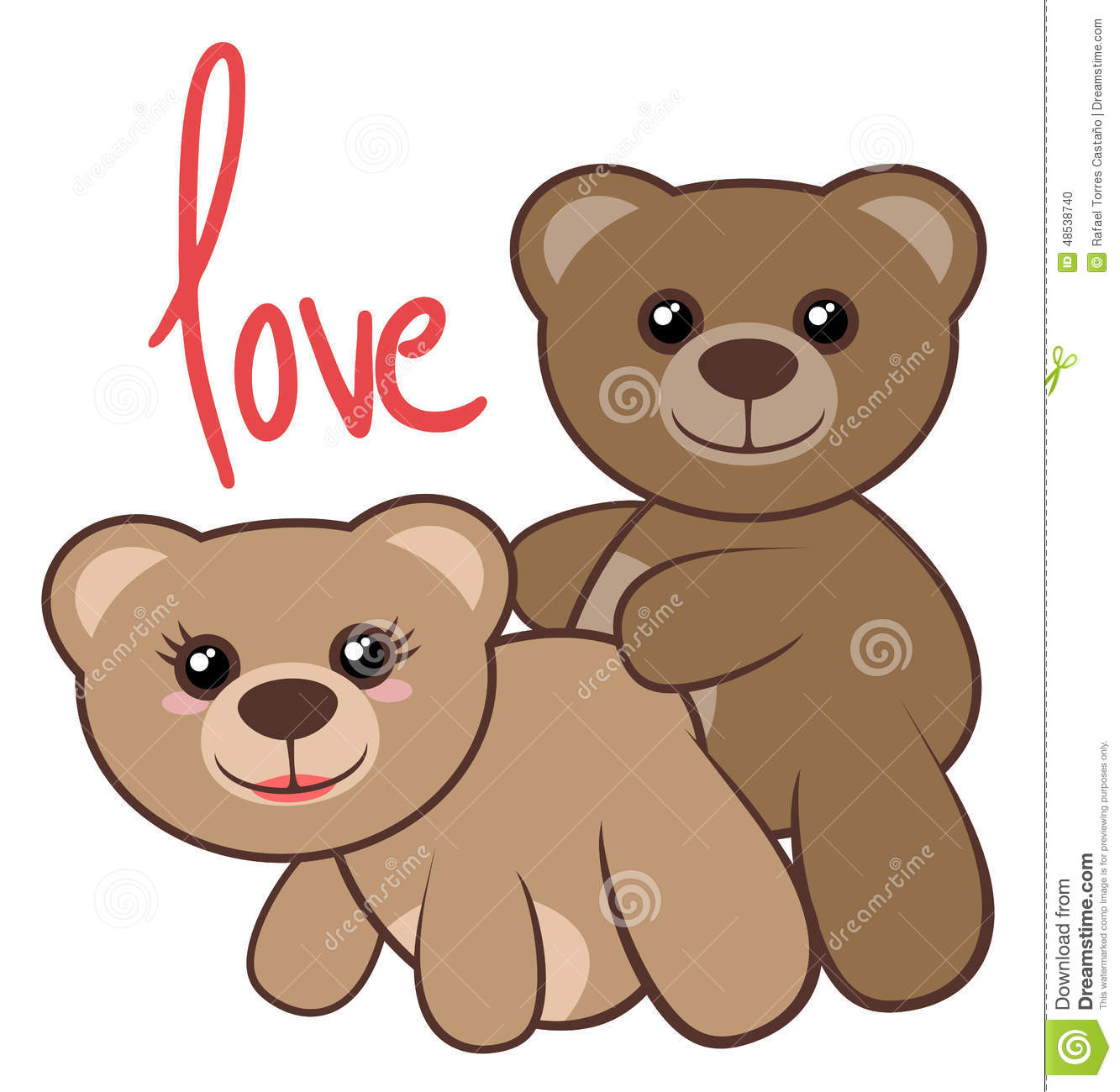 Bears love stock vector image of friendship passion 48538740 bears love voltagebd Images
