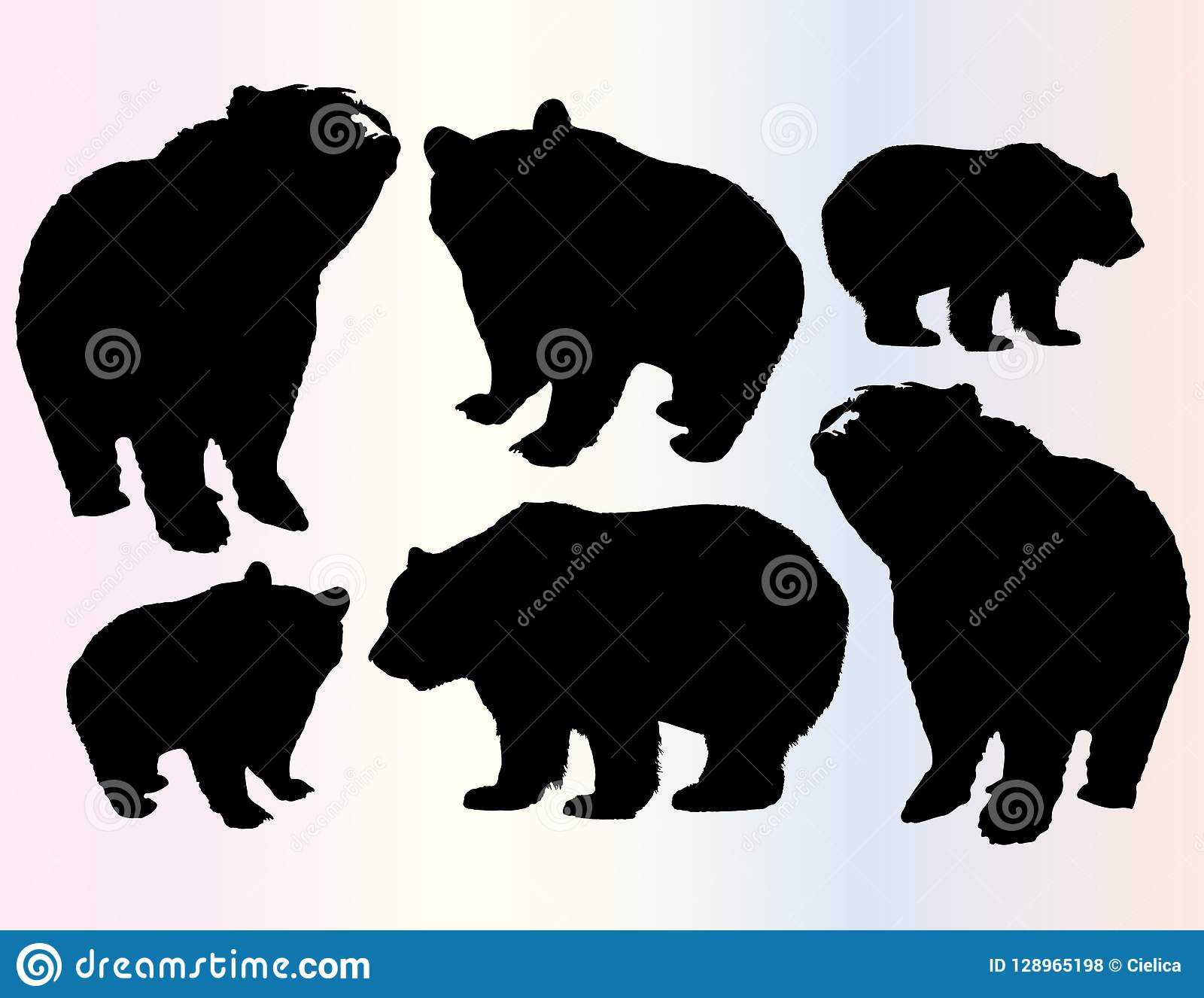 image regarding Printable Bears Schedule identify Bears Vector Clipart Endure Preset Animal Silhouettes Pets
