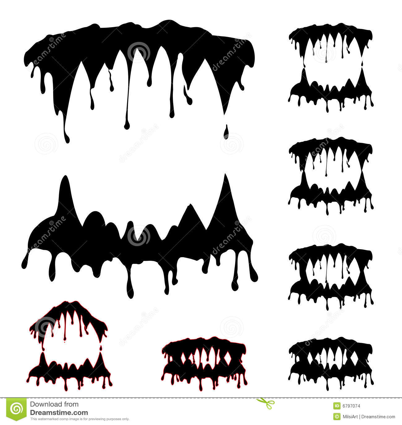 Beast Jaws Set Stock Images Image 6797074
