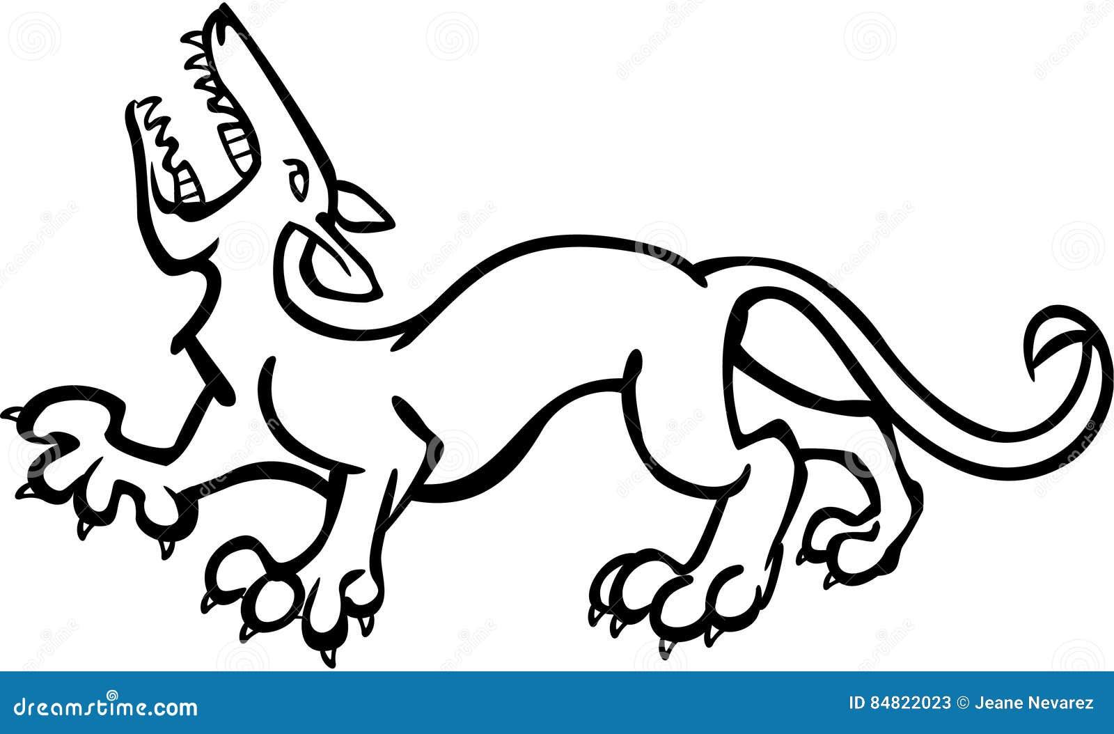 Vector Line Art Animals : Beast stock vector image