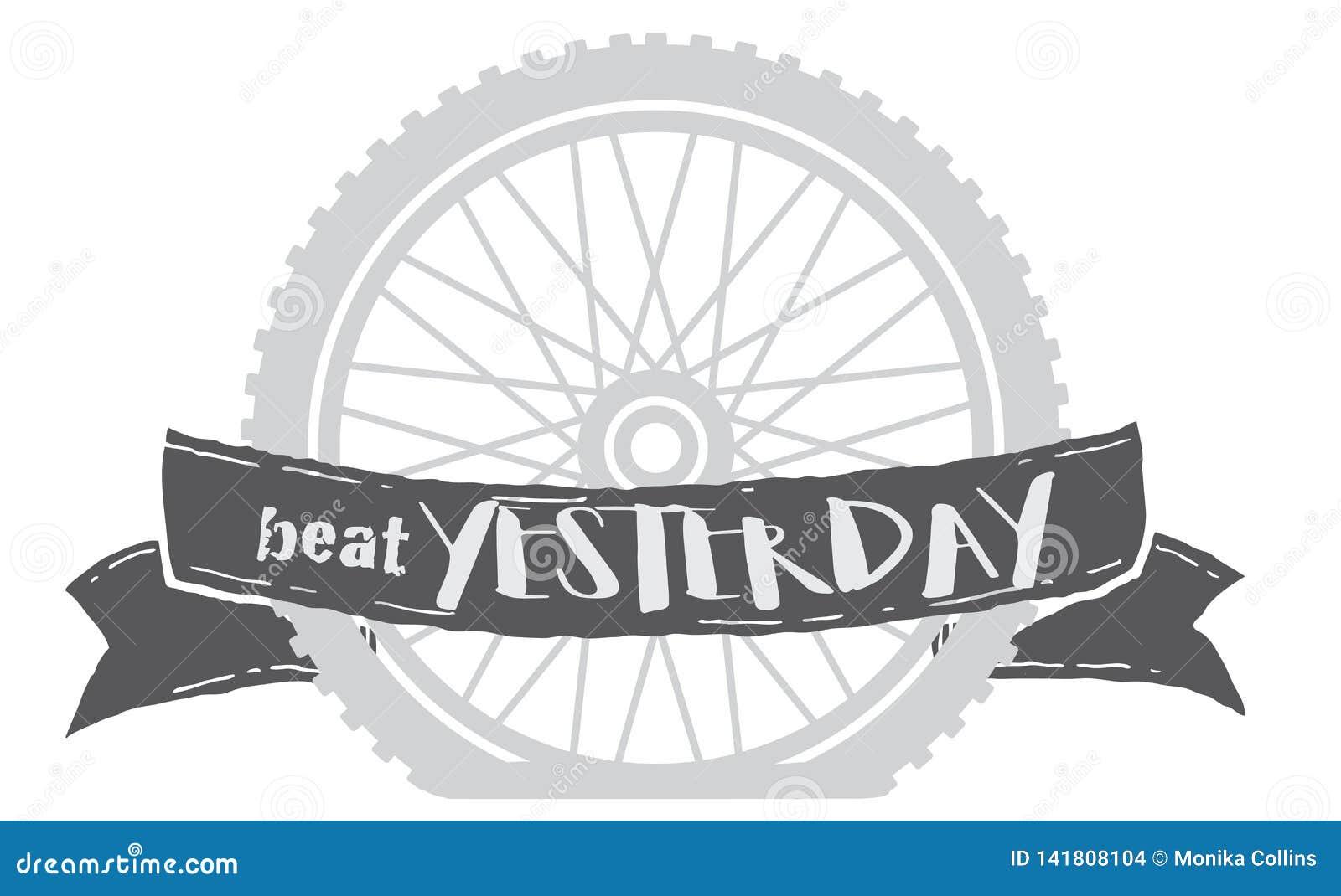 Beat yesterday bike wheel