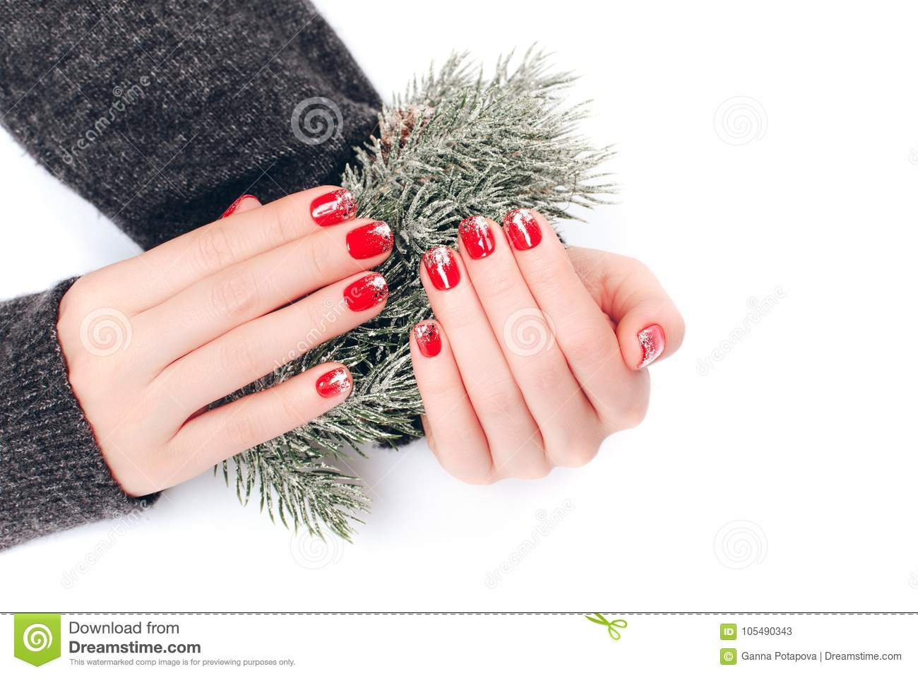 Beatiful Christmas manicure