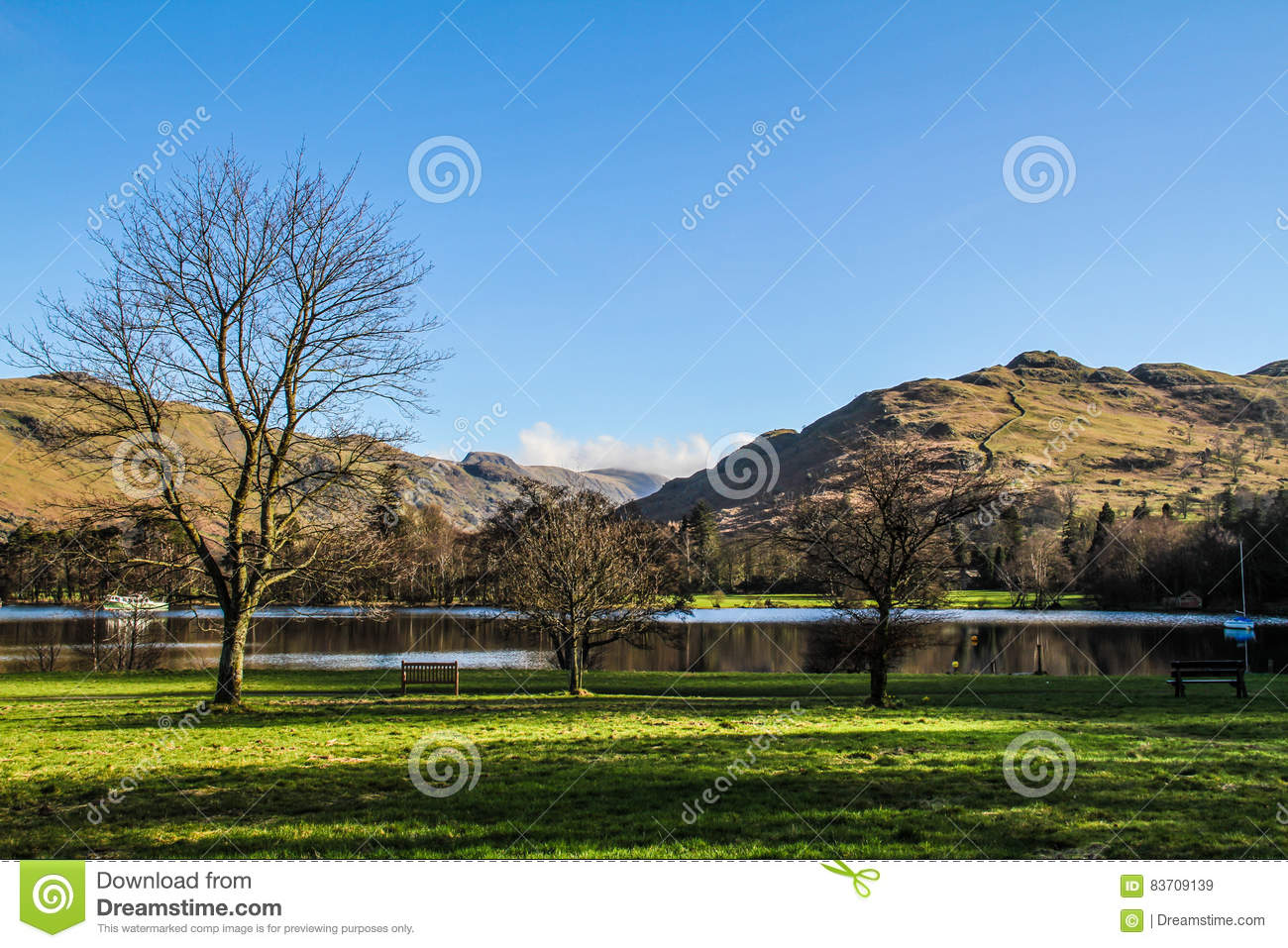 Beatiful English Countryside Stock Photo