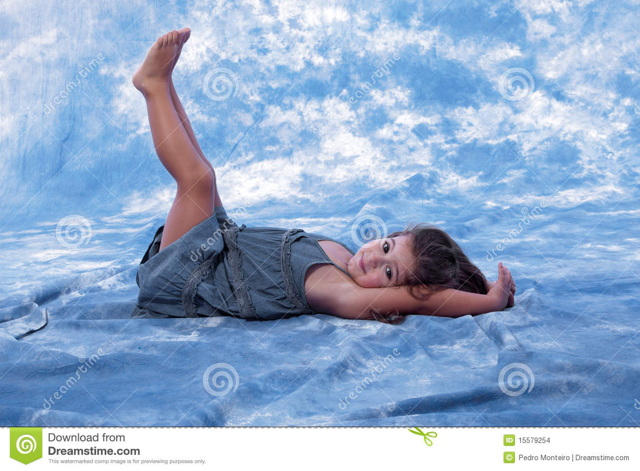 Two Family Floor Plans Beatiful Little Girl Lying On The Floor Playing Stock
