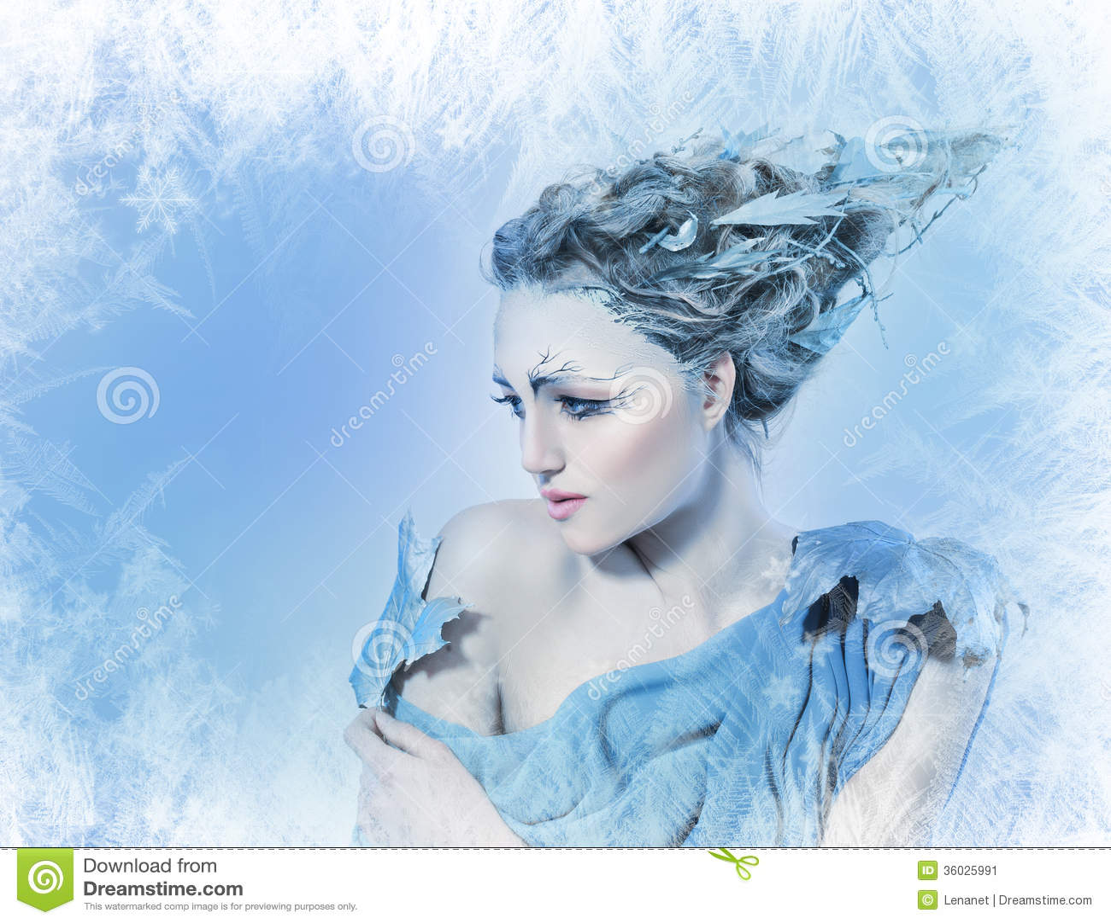 Beatiful Woman With Fantasy Hair Stock Image Image Of Make Luxury