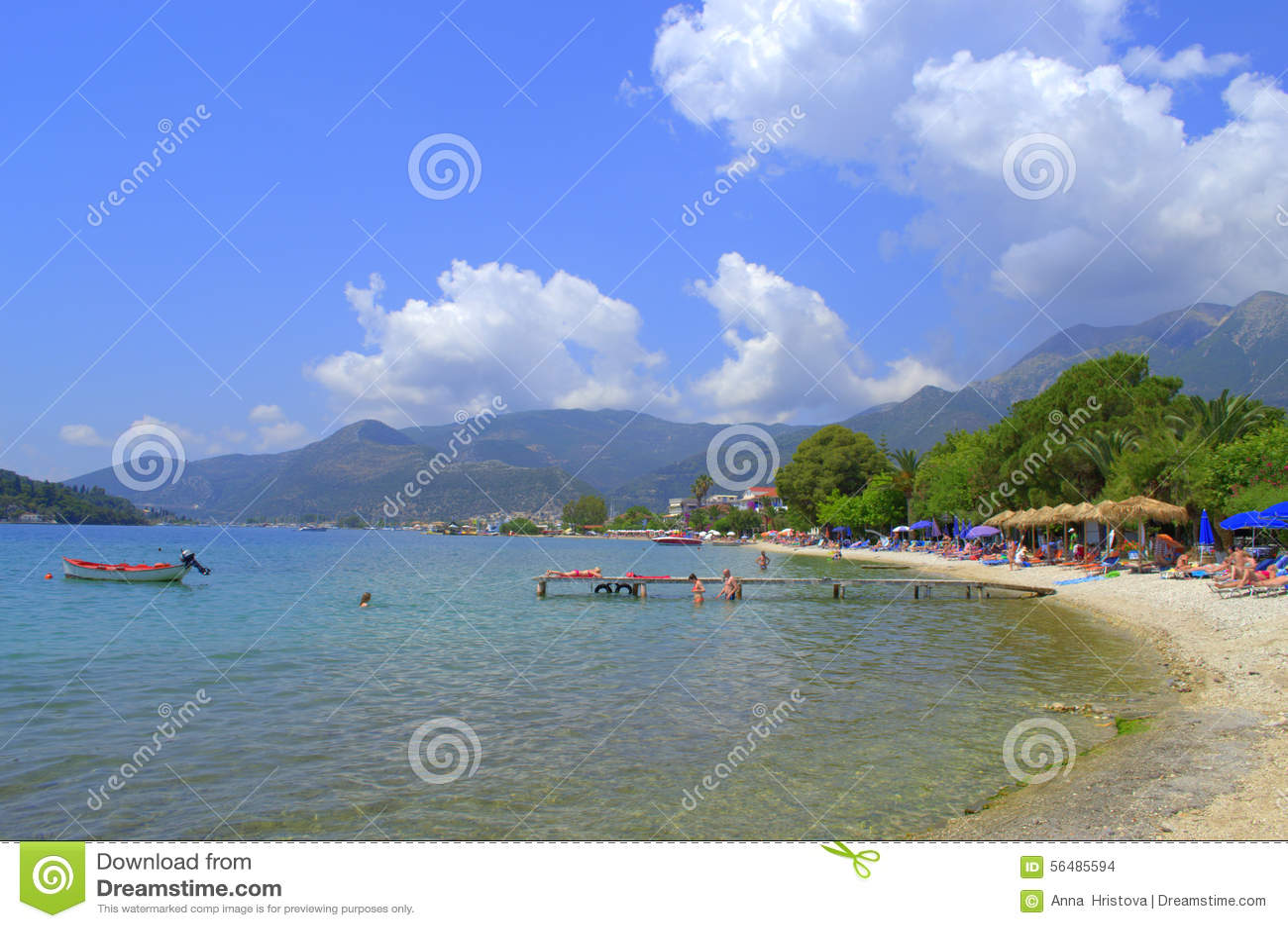 Beau bord de la mer d île de Leucade, Grèce