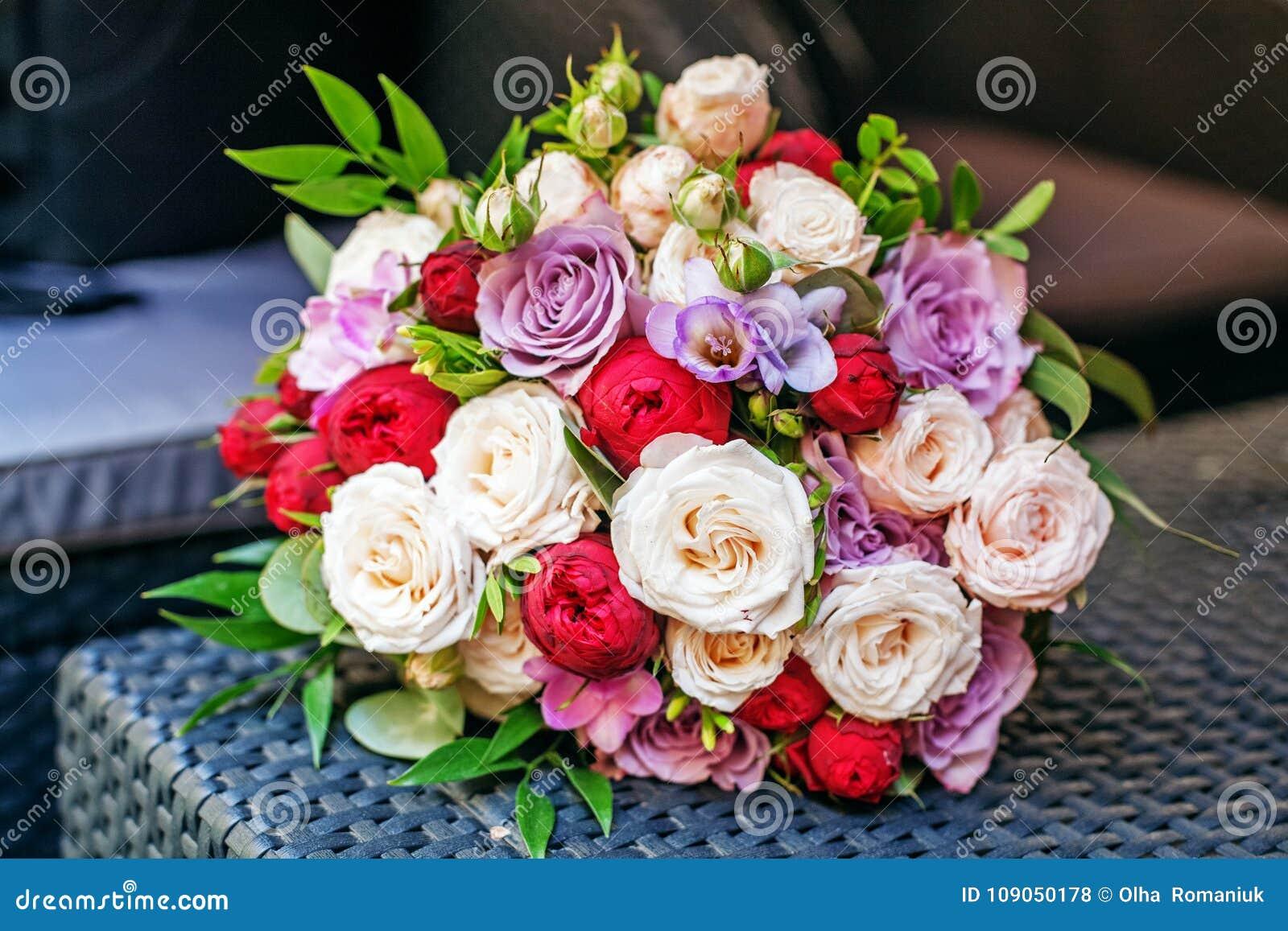 Beau Bouquet De Fleur Réunion Romantique Le Concept Du Marri
