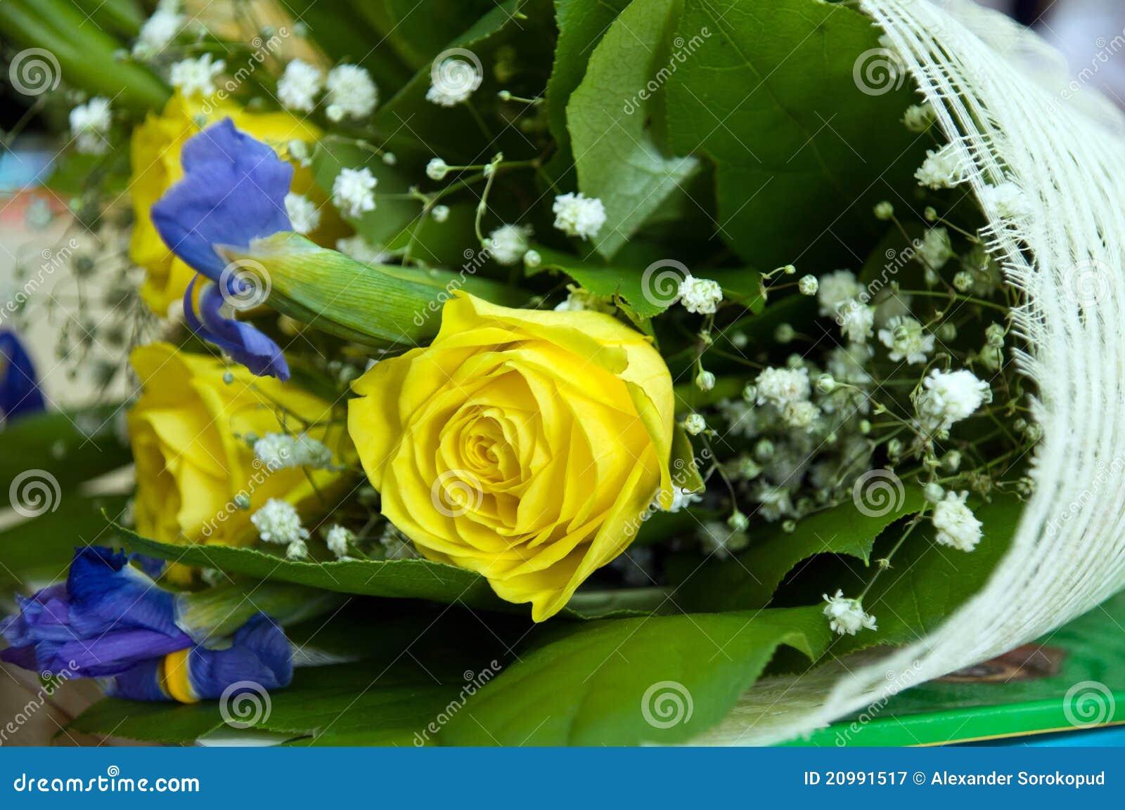 beau bouquet des fleurs photographie stock libre de droits image 20991517. Black Bedroom Furniture Sets. Home Design Ideas