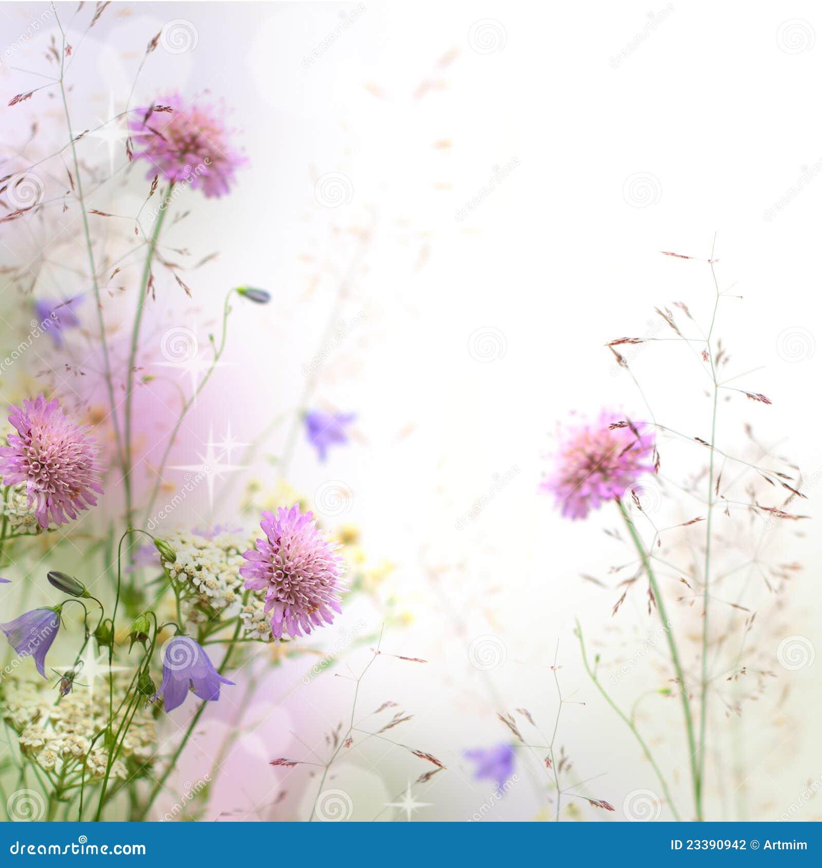 beau cadre floral en pastel photo stock image du brouill l ment 23390942. Black Bedroom Furniture Sets. Home Design Ideas