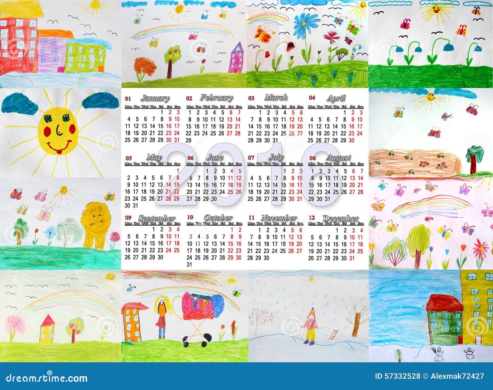 Календари с детскими