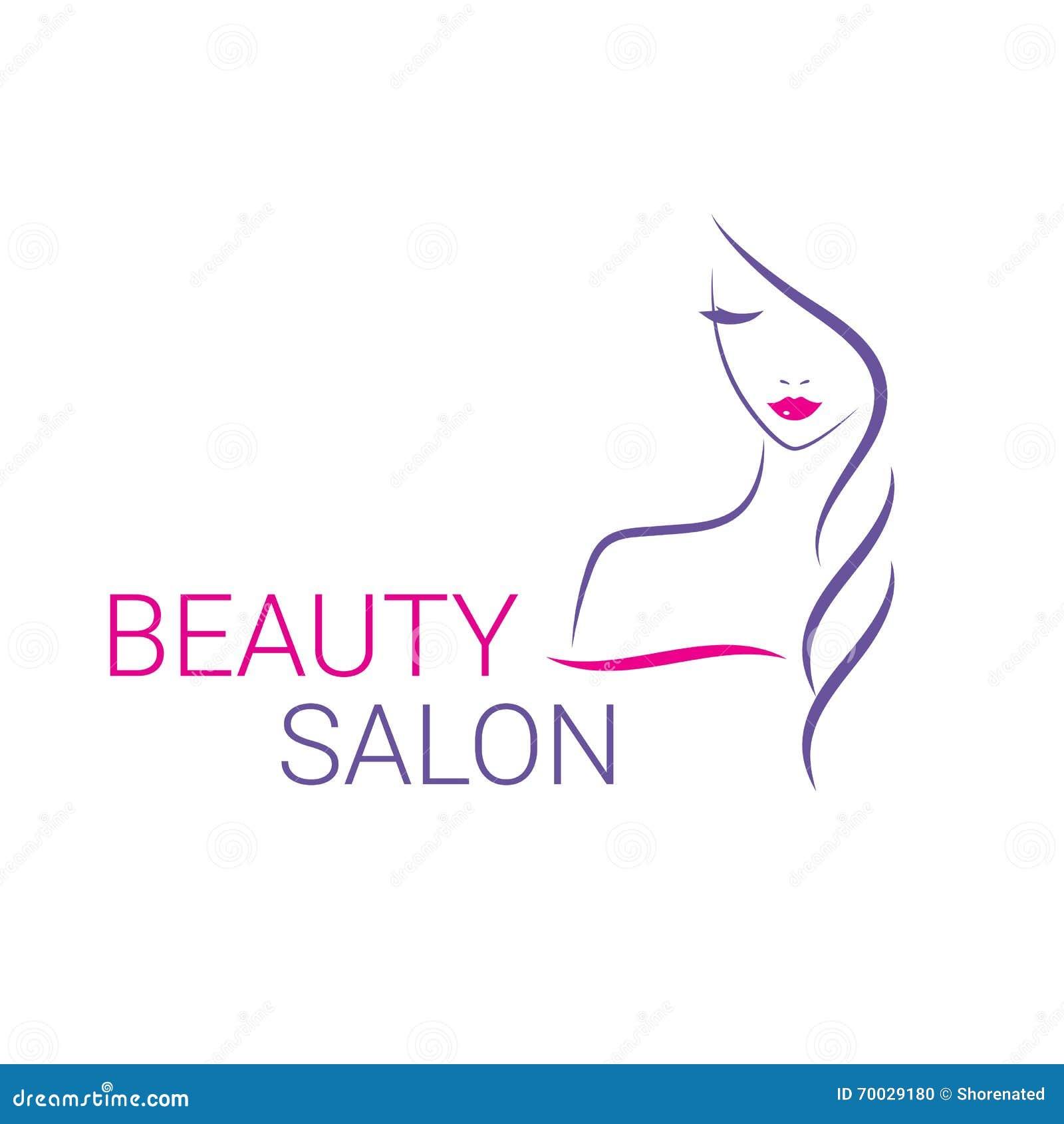 Beau Calibre De Logo De Vecteur De Femme Pour Le Salon De Coiffure