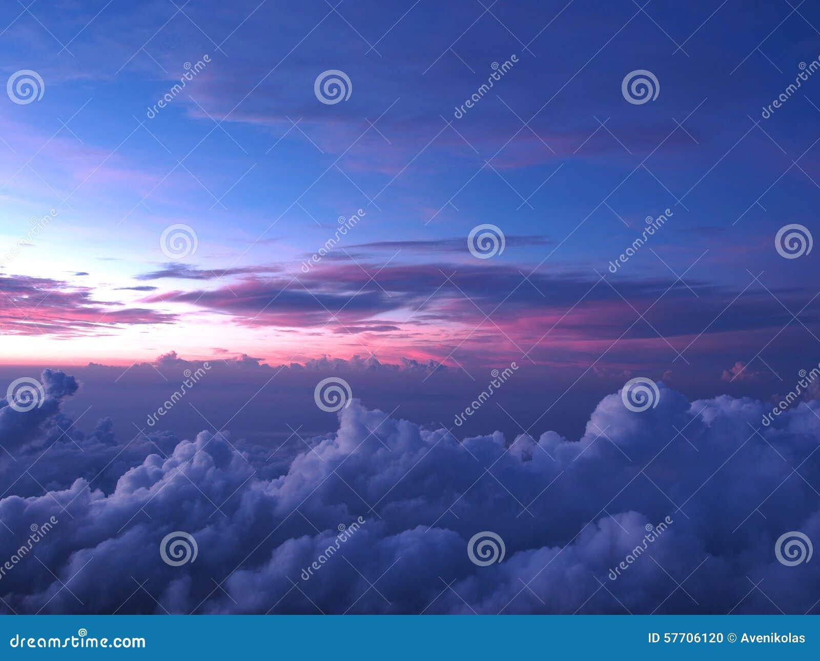 Beau Ciel Bleu Rose Photo Stock Image Du Panorama Fond 57706120