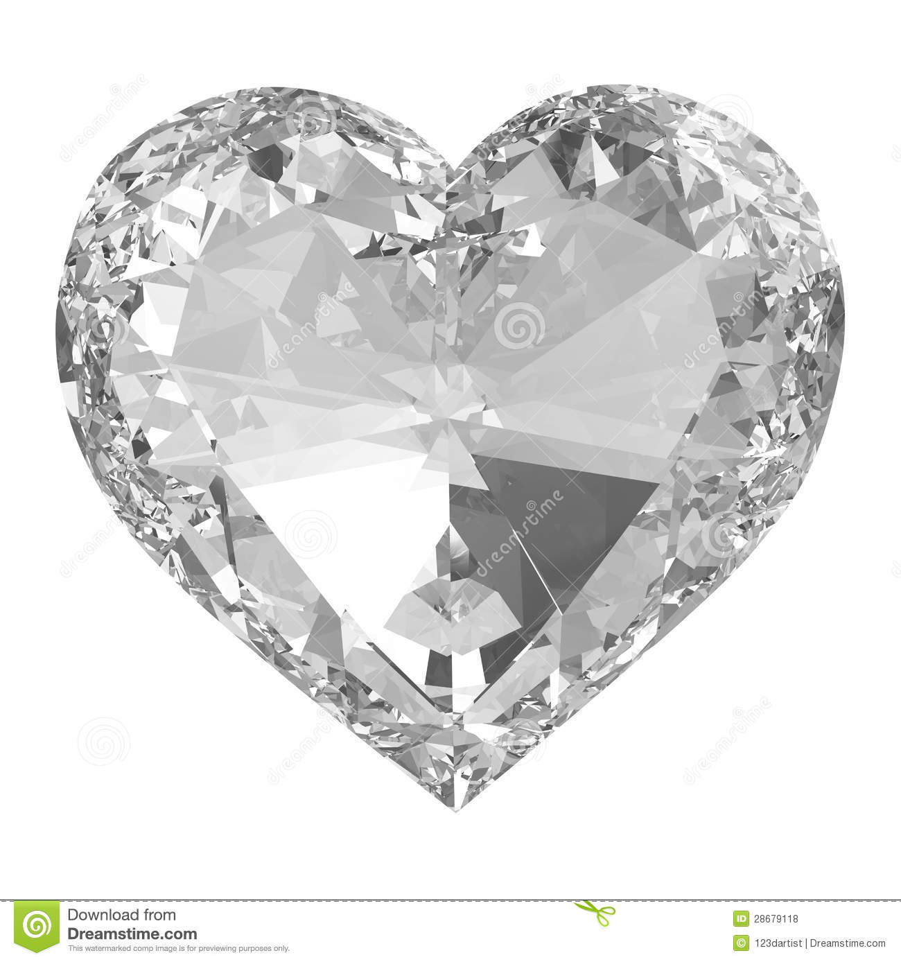 Diamond Heart Coloring Page