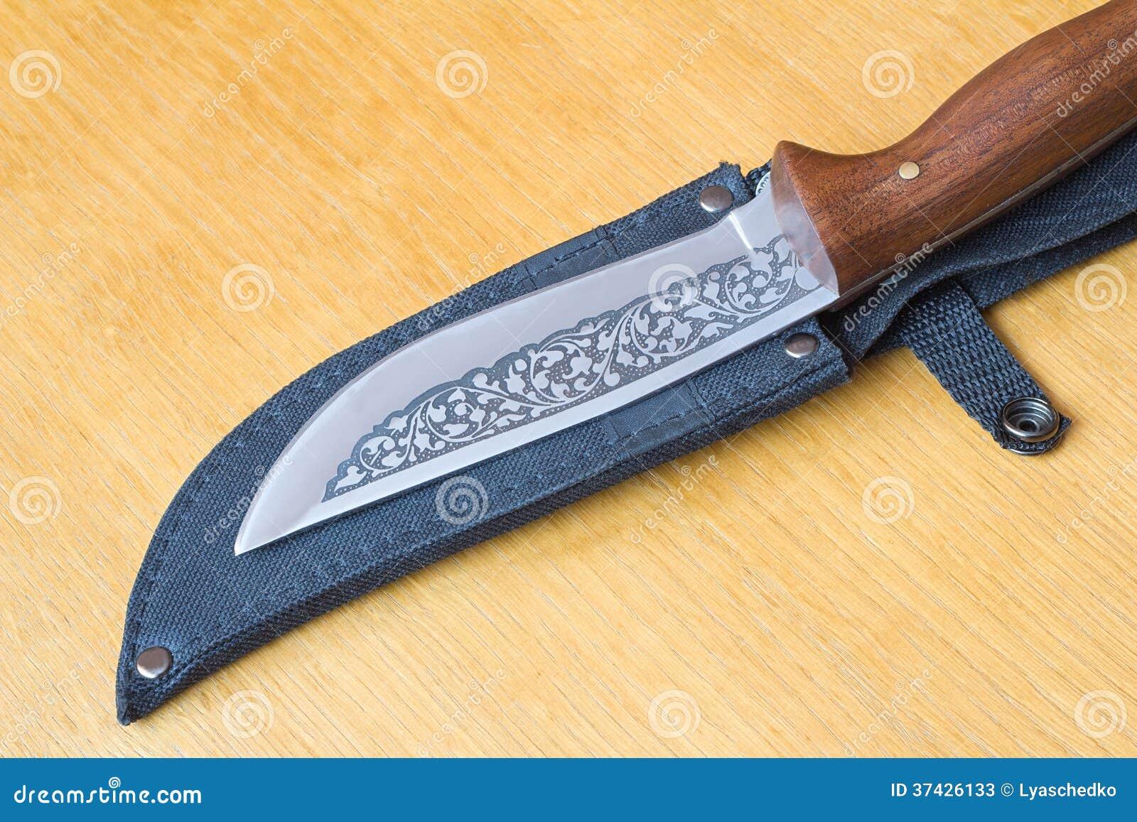 beau couteau de chasse et une caisse pour le couteau image stock image du mensonge pointu. Black Bedroom Furniture Sets. Home Design Ideas