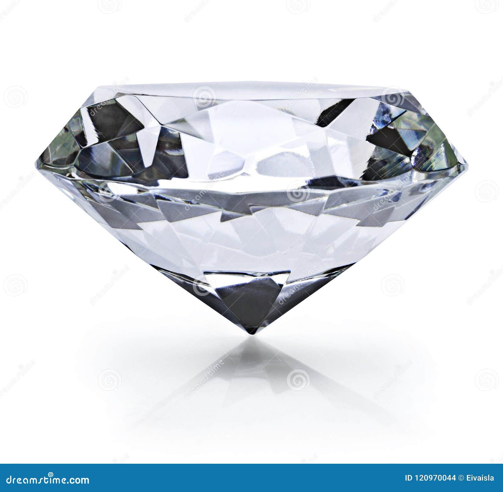 Beau diamant brillant, sur le fond blanc