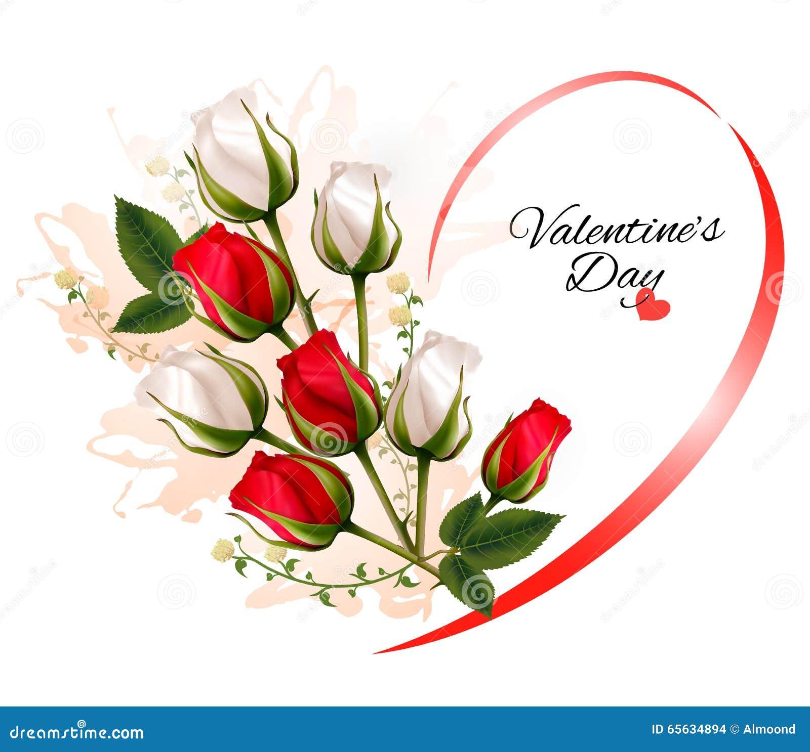 Beau fond de Saint-Valentin heureuse avec des roses