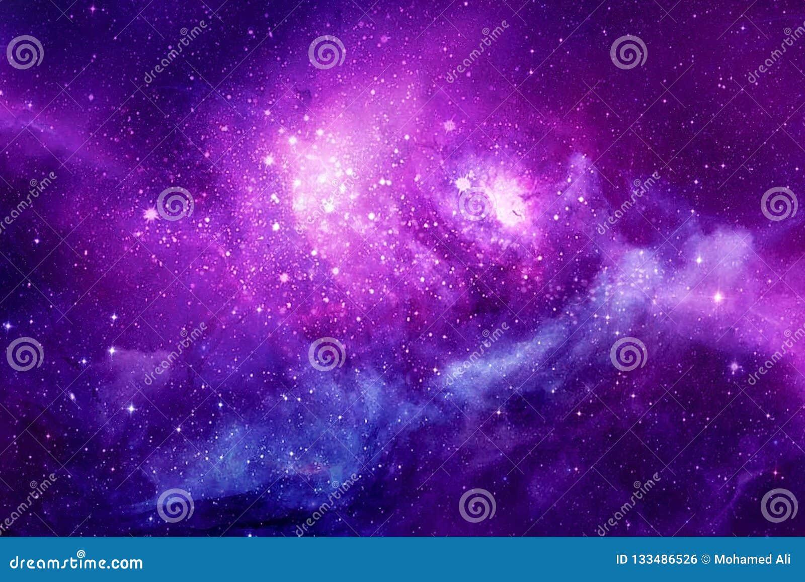 Beau fond unique multicolore artistique de galaxie