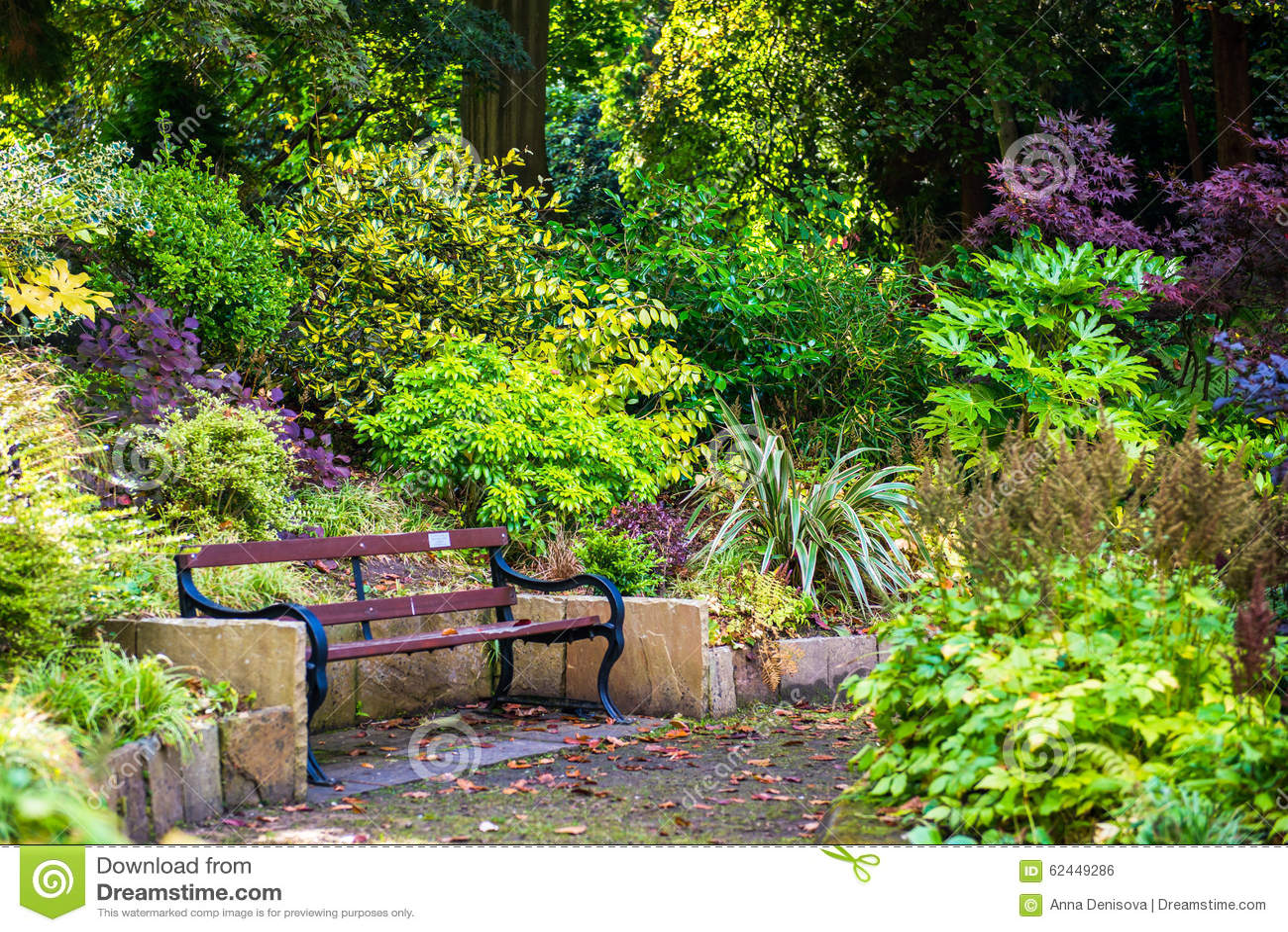 Beau Jardin Anglais Color Pendant L 39 Automne Angleterre