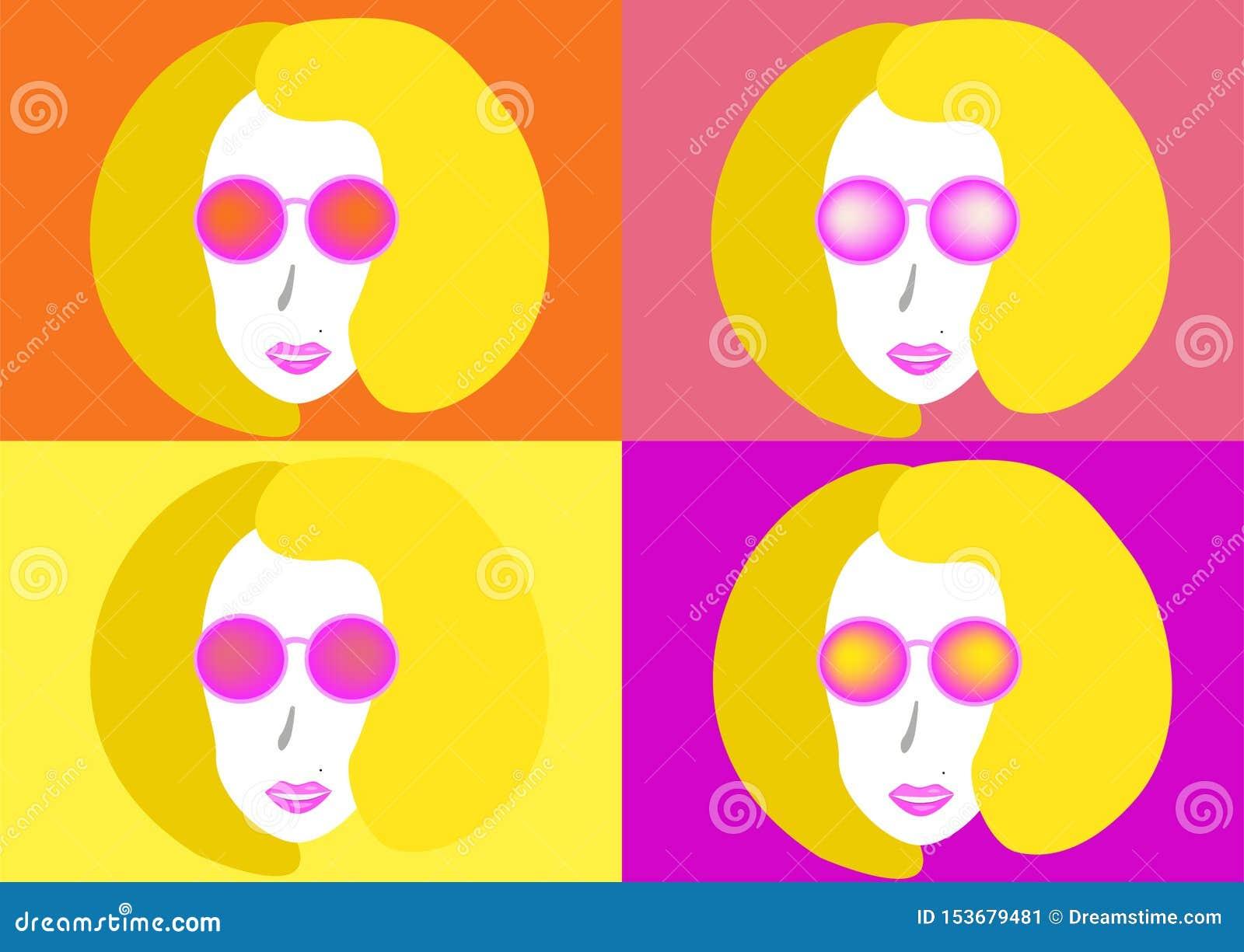 Beau jeune femme avec des lunettes de soleil