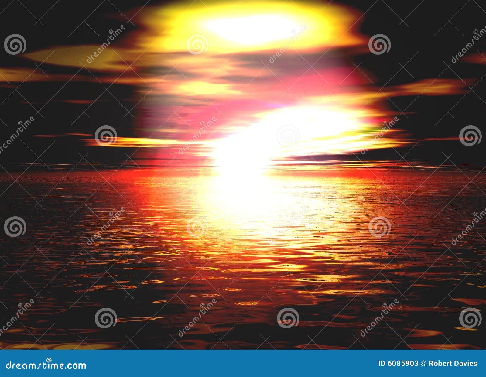 Beau lever de soleil orange et rouge romantique de coucher - Du lever du soleil jusqu a son coucher ...