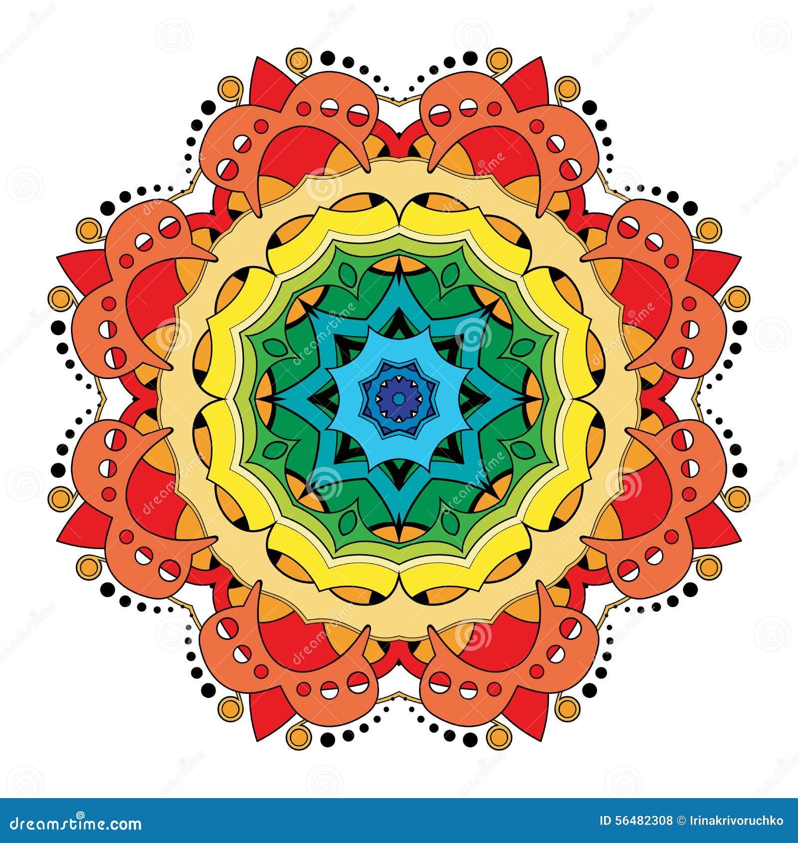 Beau mandala coloré par Deco de vecteur