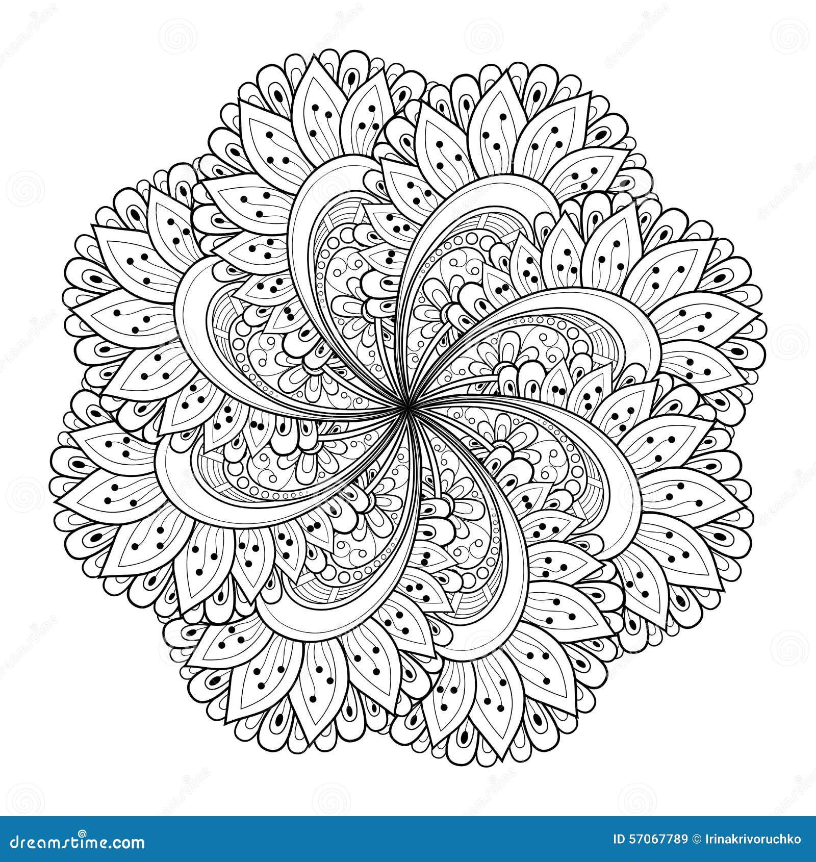 Beau mandala de noir de deco de vecteur illustration de - Mandala beau et difficile ...