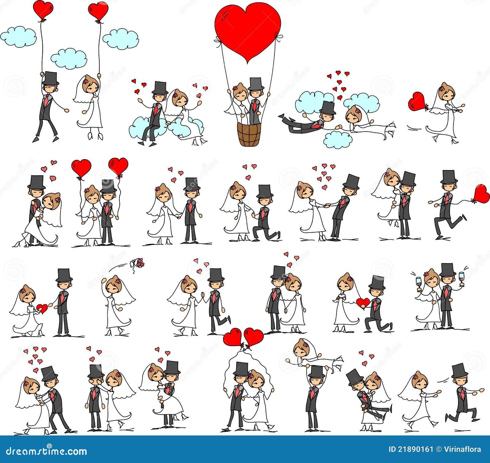 Beau mariage la mariée et le marié