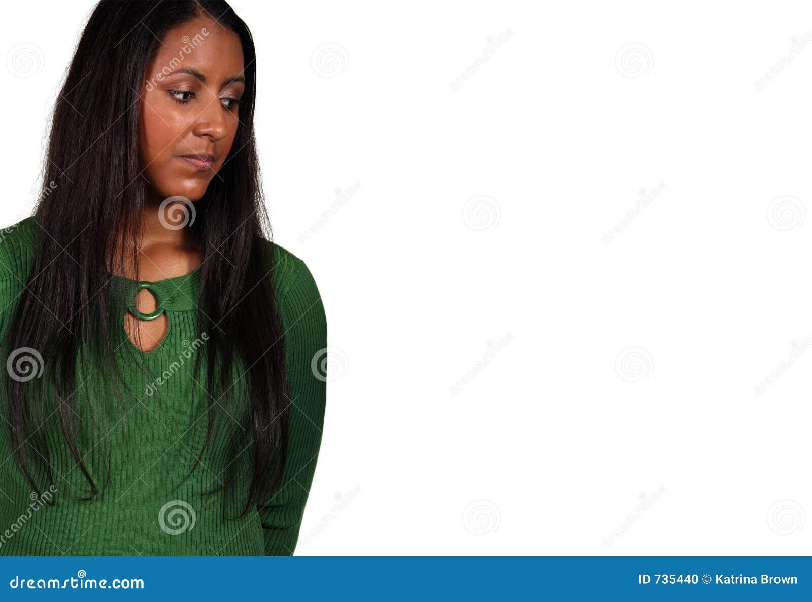Beau modèle exotique de femme d isolement