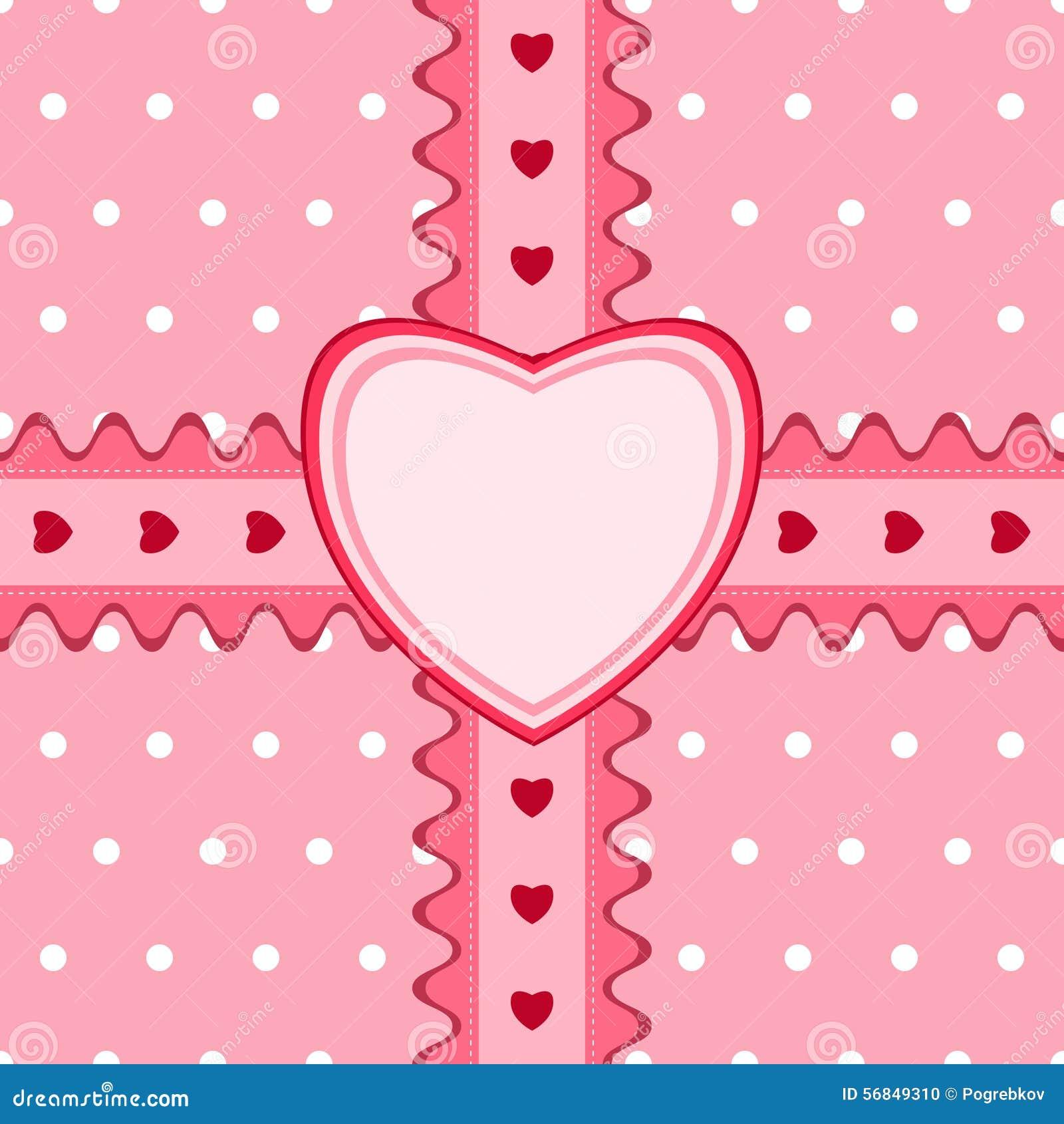 Beau modèle sans couture avec la dentelle et carte dans la couleur rose