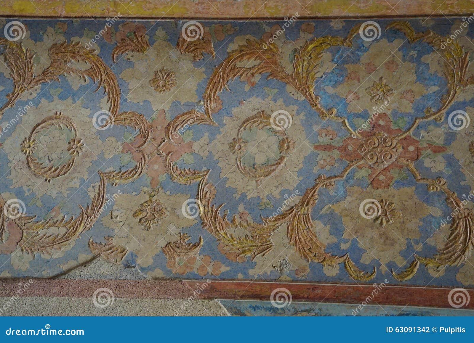 Download Beau Mur D'Ali Qapu Palace à Isphahan, Iran Photo stock - Image du historique, fleuri: 63091342