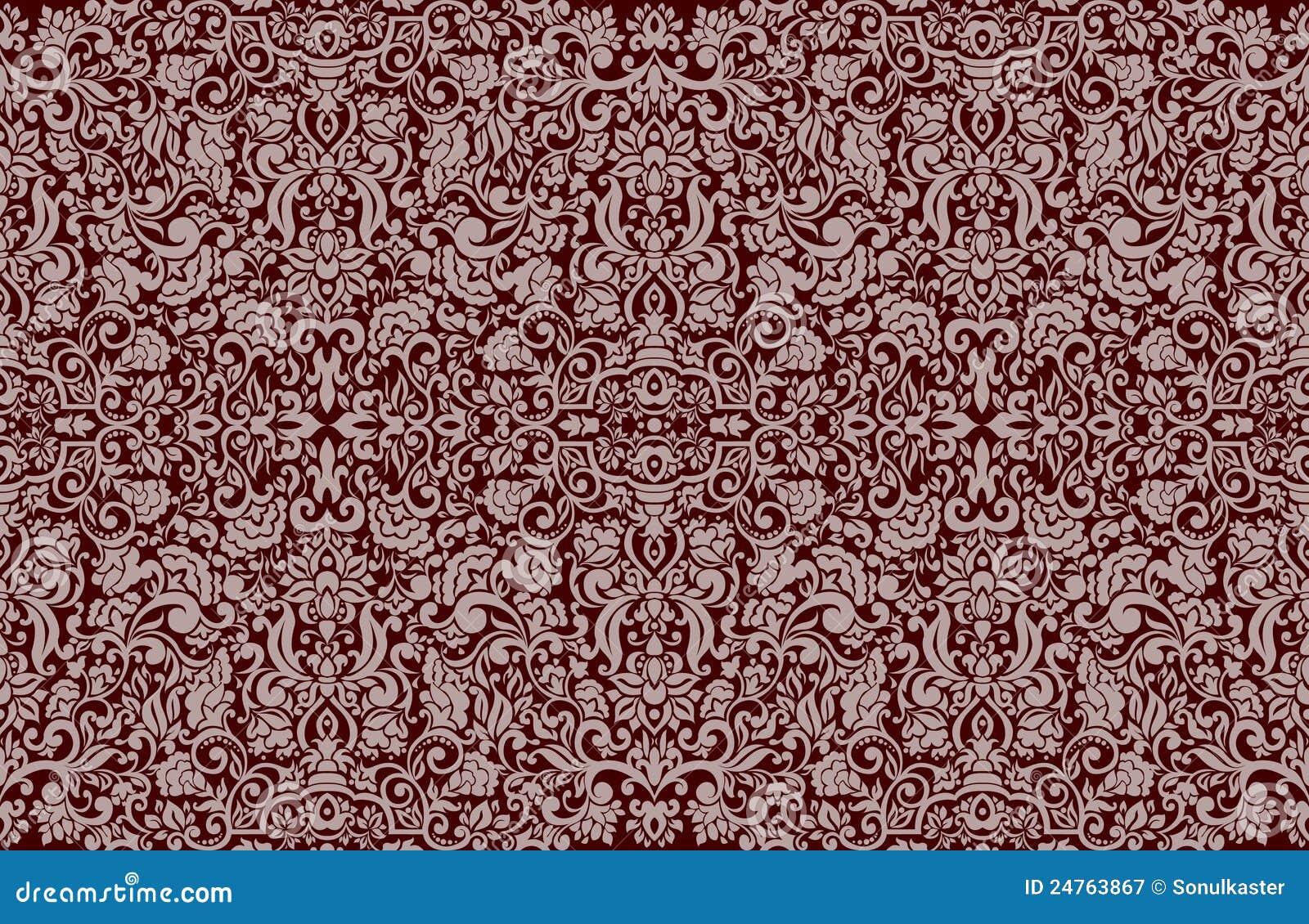 beau papier peint sans joint de damass illustration de. Black Bedroom Furniture Sets. Home Design Ideas