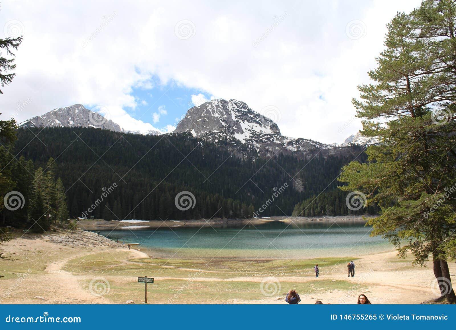 Beau parc national de Durmitor Crête de Meded, et lac noir, jezero de Crno, Zabljak
