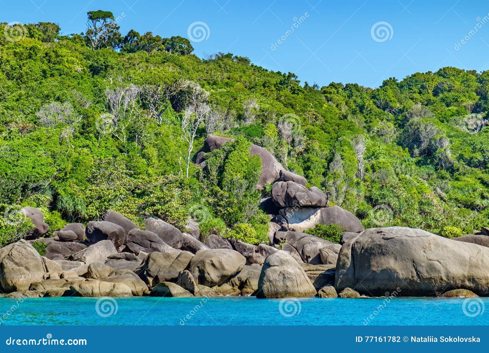 Beau paysage, île de Similan, Thaïlande