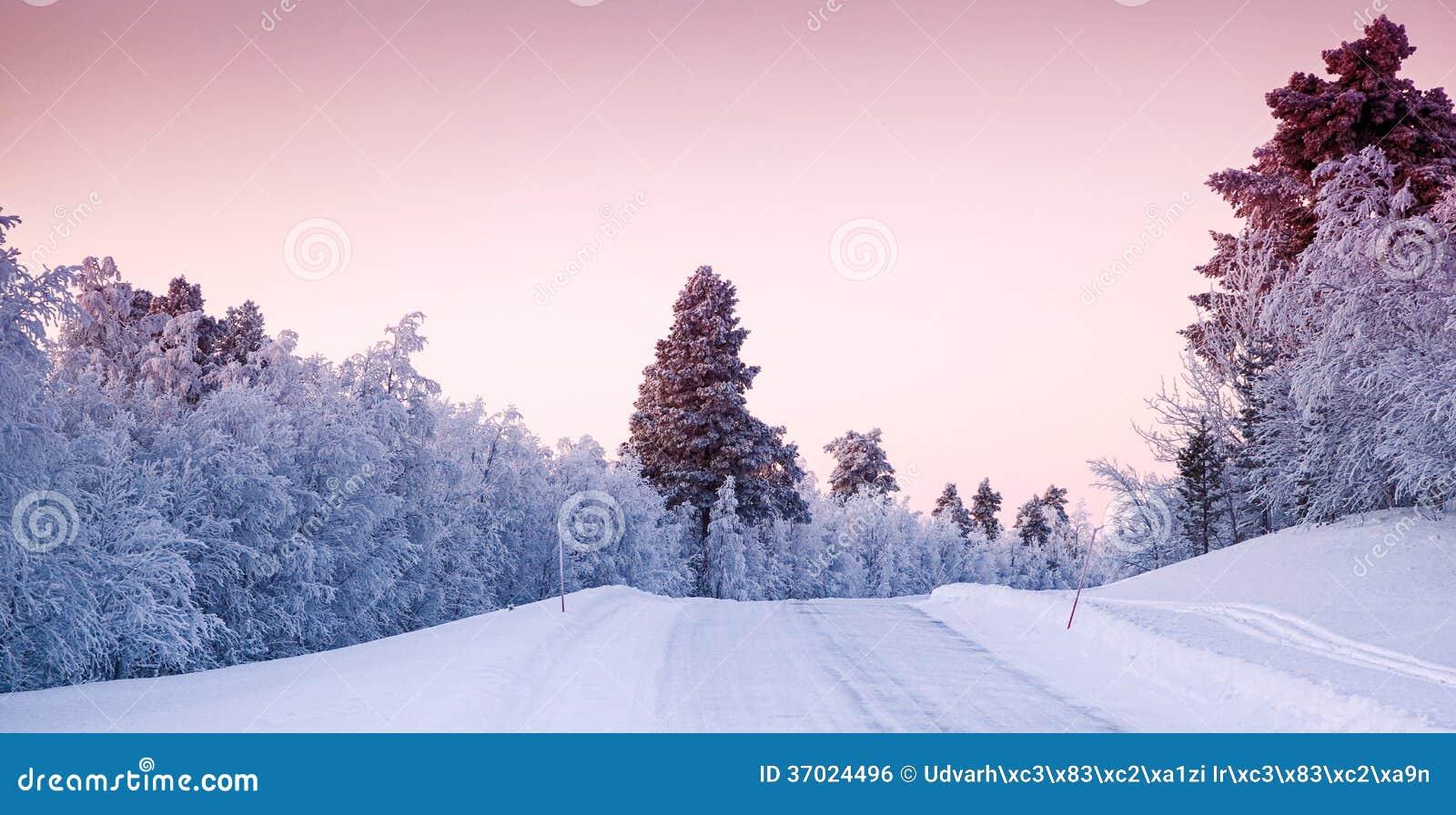 beau paysage d 39 hiver en laponie finlande photo stock image du lumineux lapland 37024496. Black Bedroom Furniture Sets. Home Design Ideas
