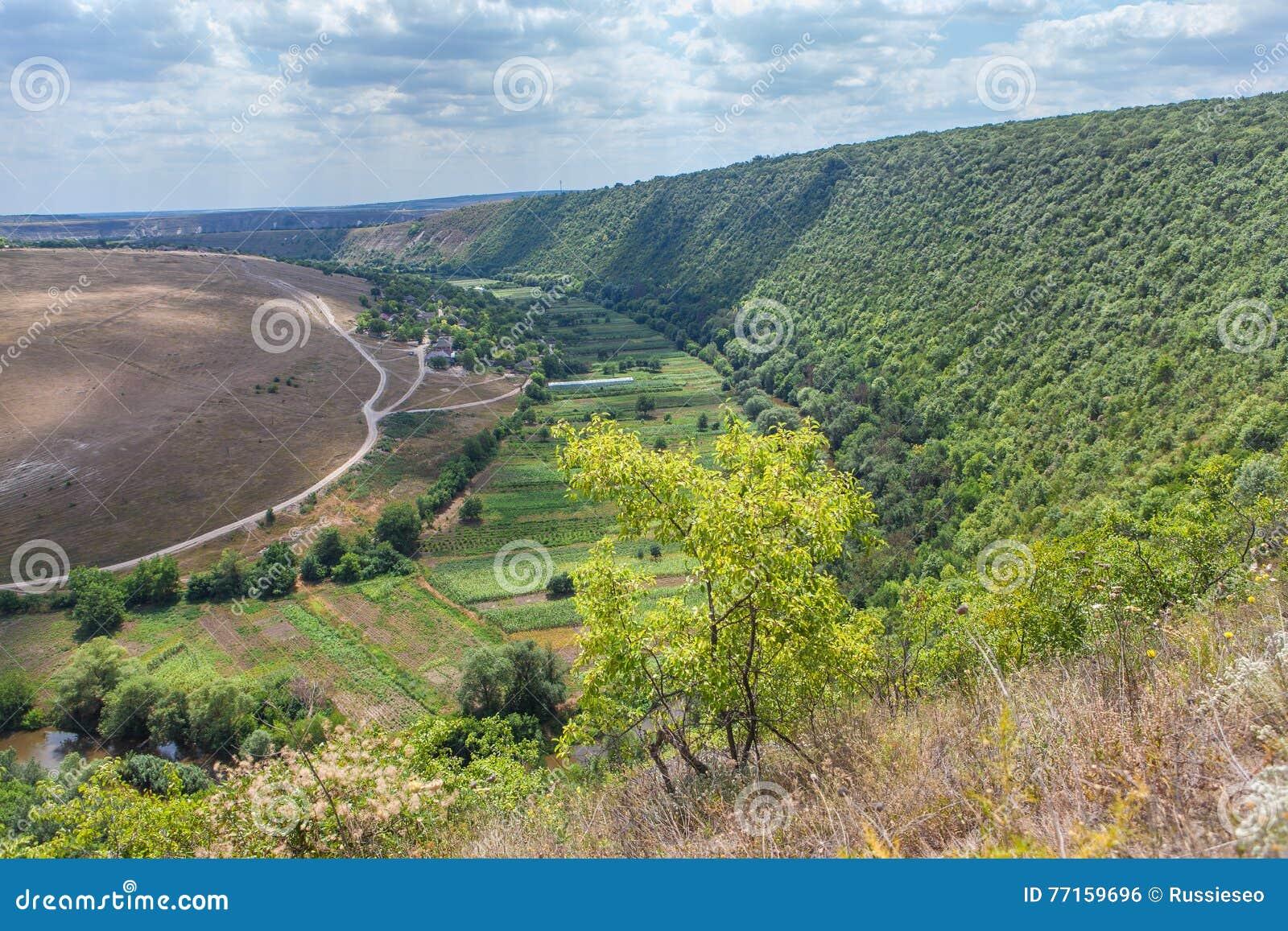 Beau paysage de Moldau
