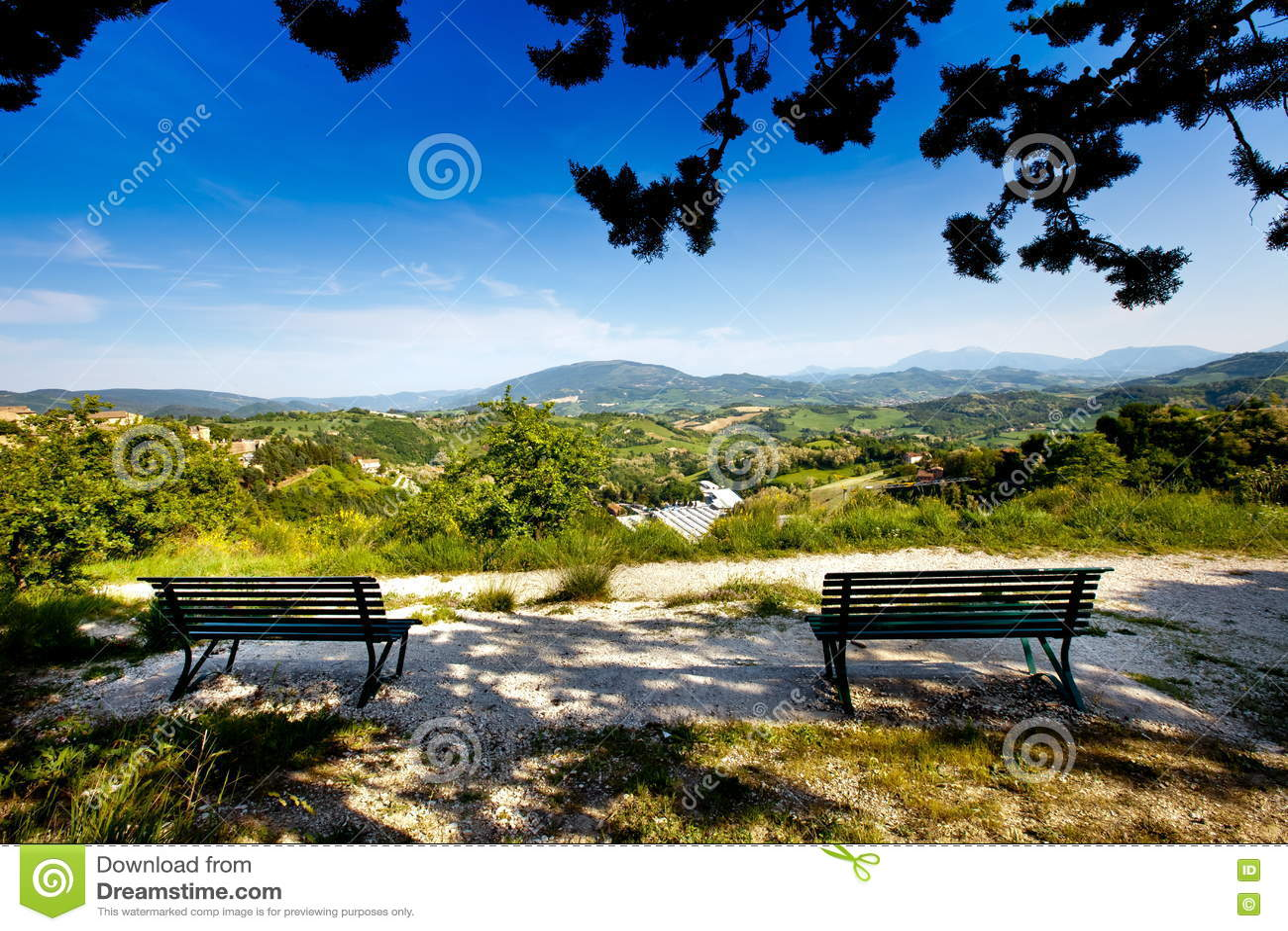 Beau paysage de Toscane