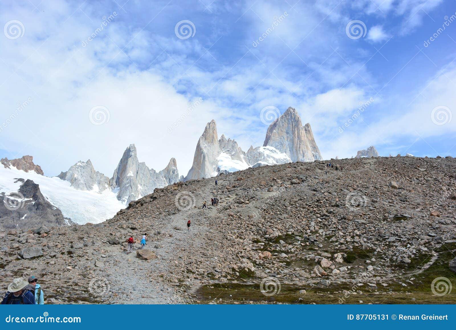Beau paysage en parc national de visibilité directe Glaciares, EL Chaltén, Argentine