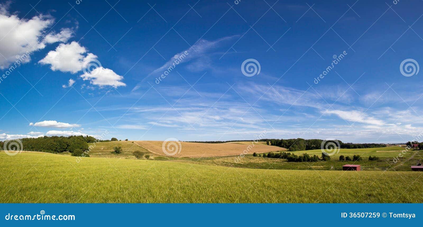 Beau paysage rural