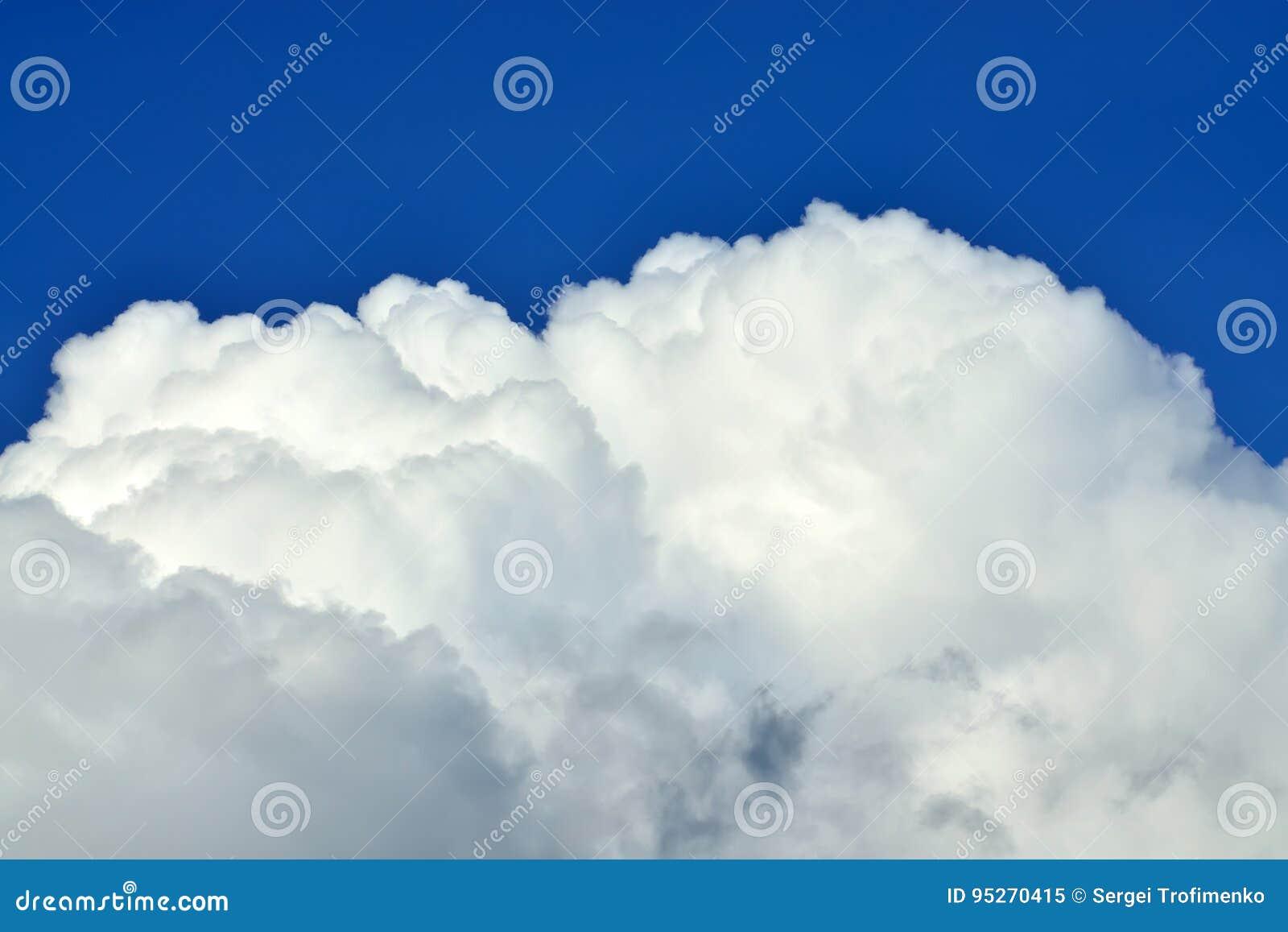 Beau plan rapproché de cumulus